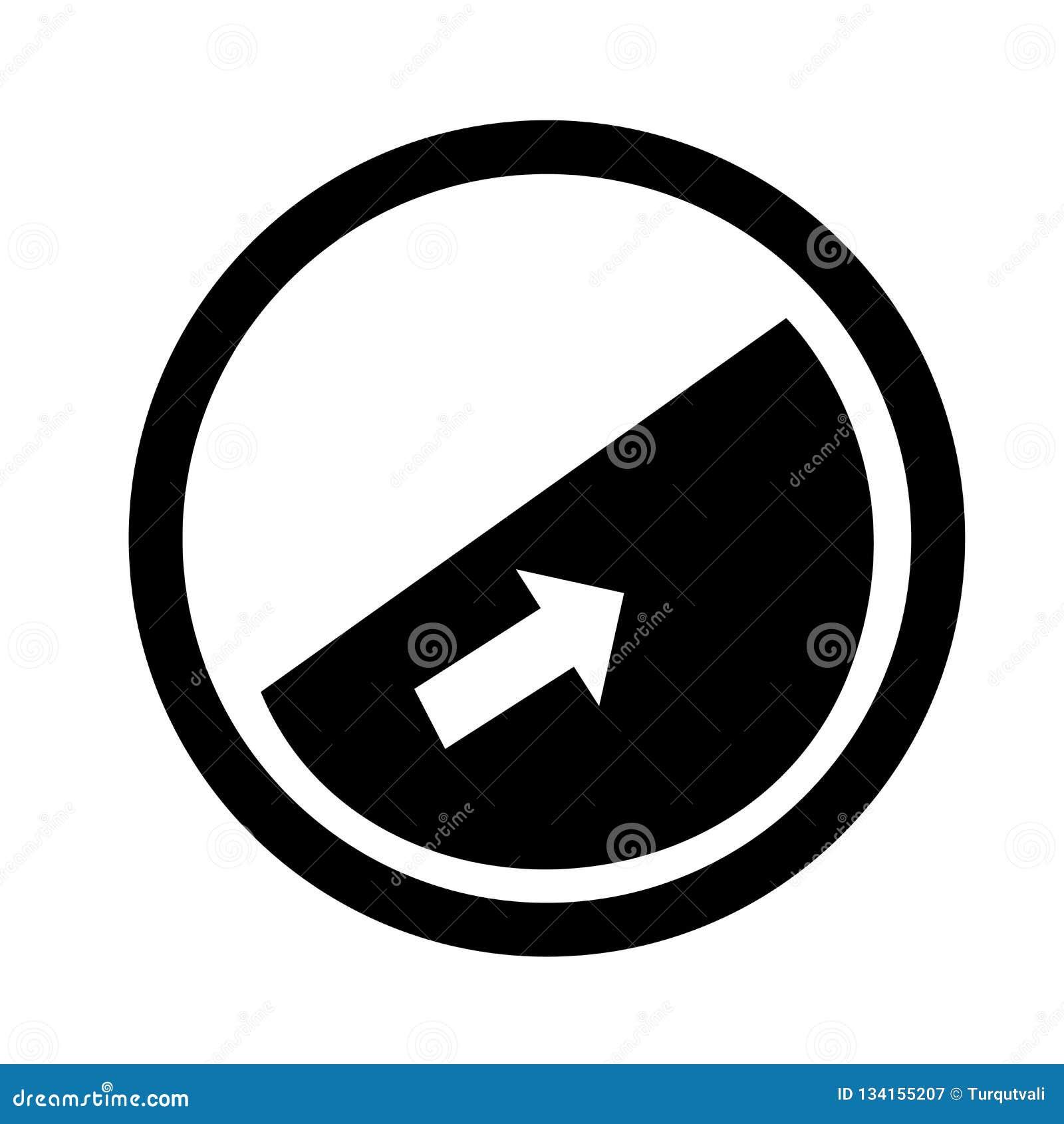 Segno e simbolo di vettore dell icona del pendio isolati su fondo bianco, concetto di logo del pendio