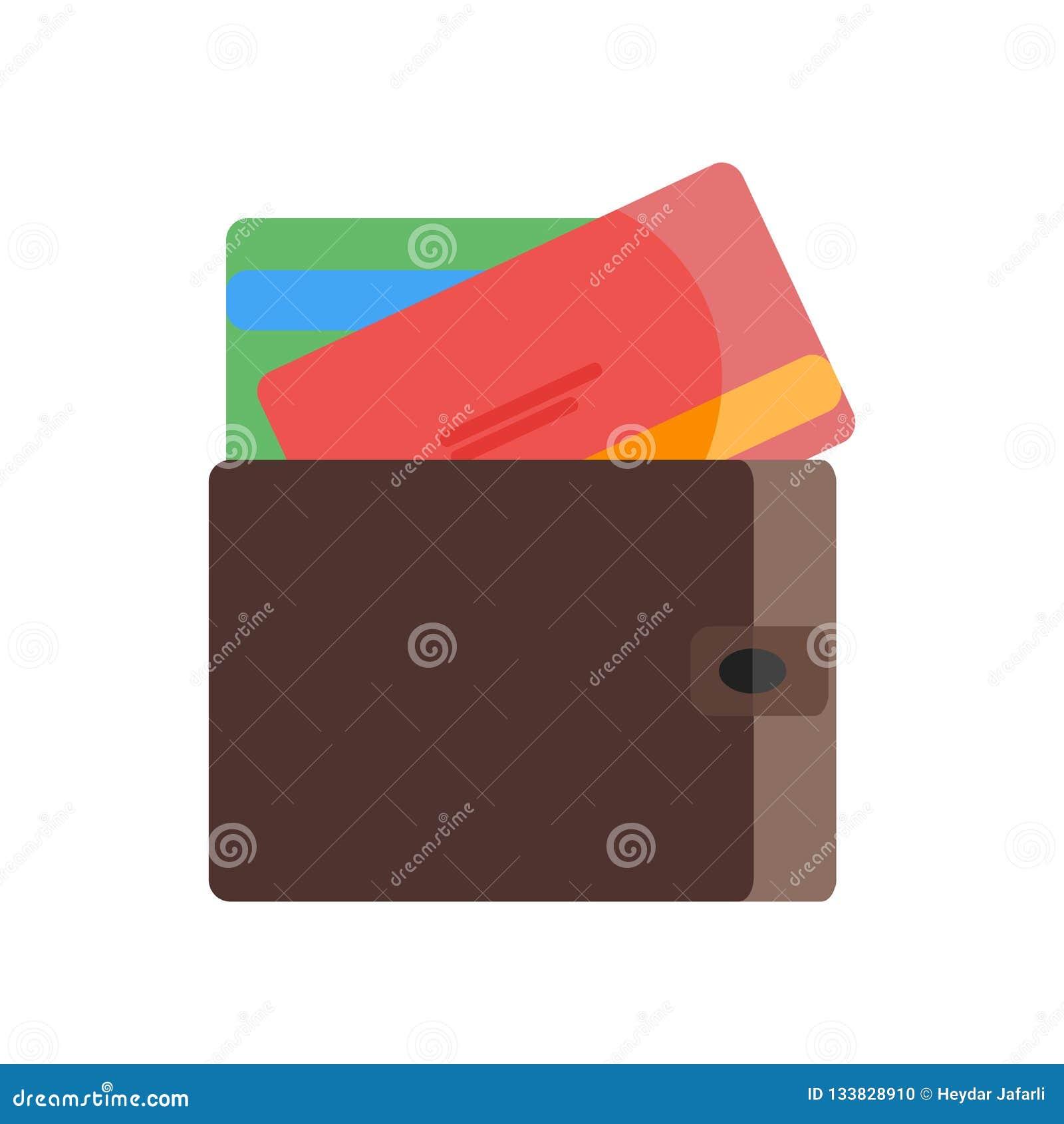 Segno e simbolo di vettore dell icona della carta di credito isolati su backgr bianco