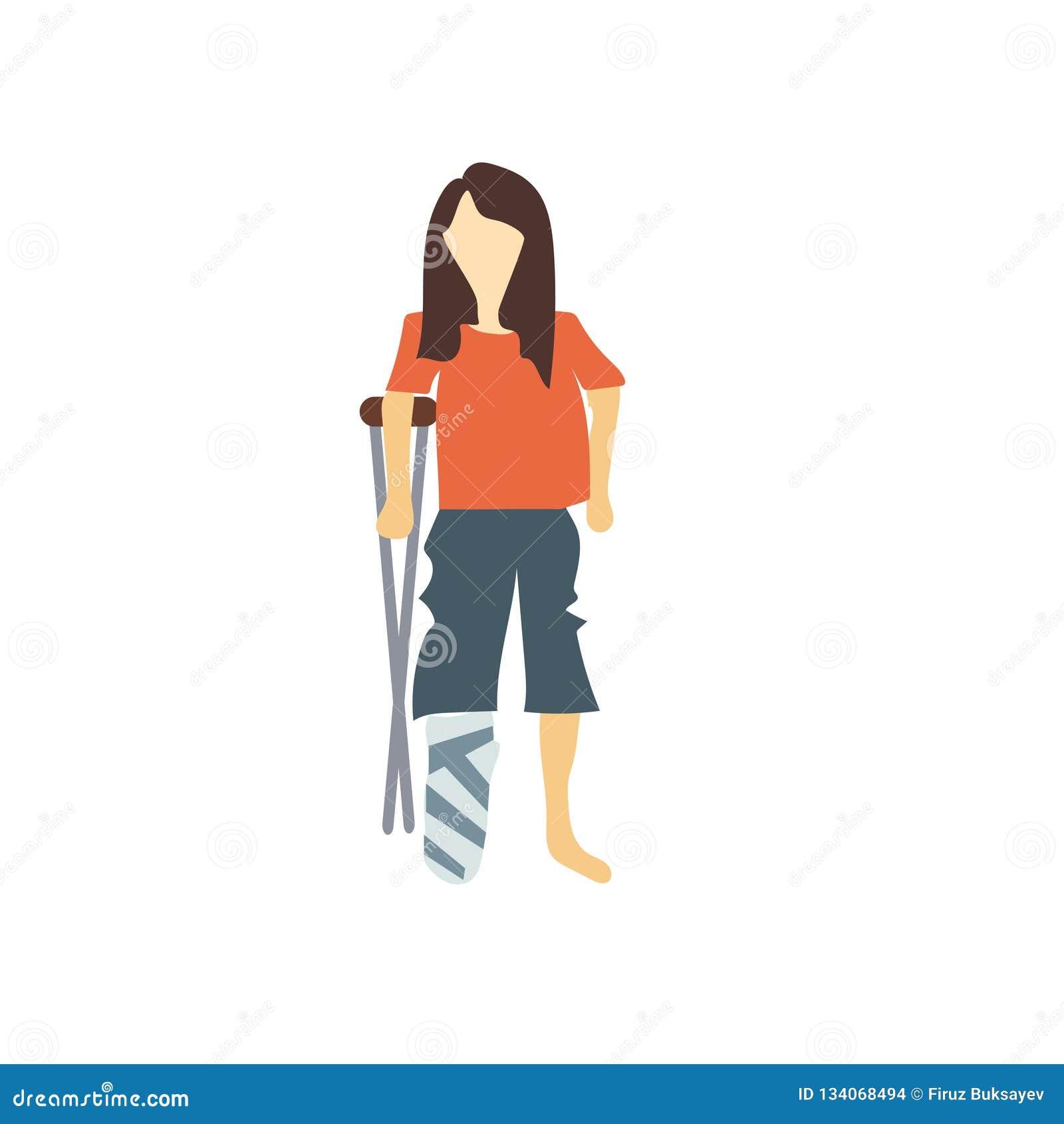 Segno e simbolo di vettore di vettore della donna disabile isolati su fondo bianco, concetto di logo di vettore della donna disab