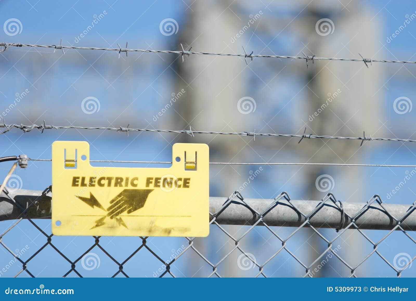 Download Segno Elettrico Della Rete Fissa Immagine Stock - Immagine di plastica, protezione: 5309973