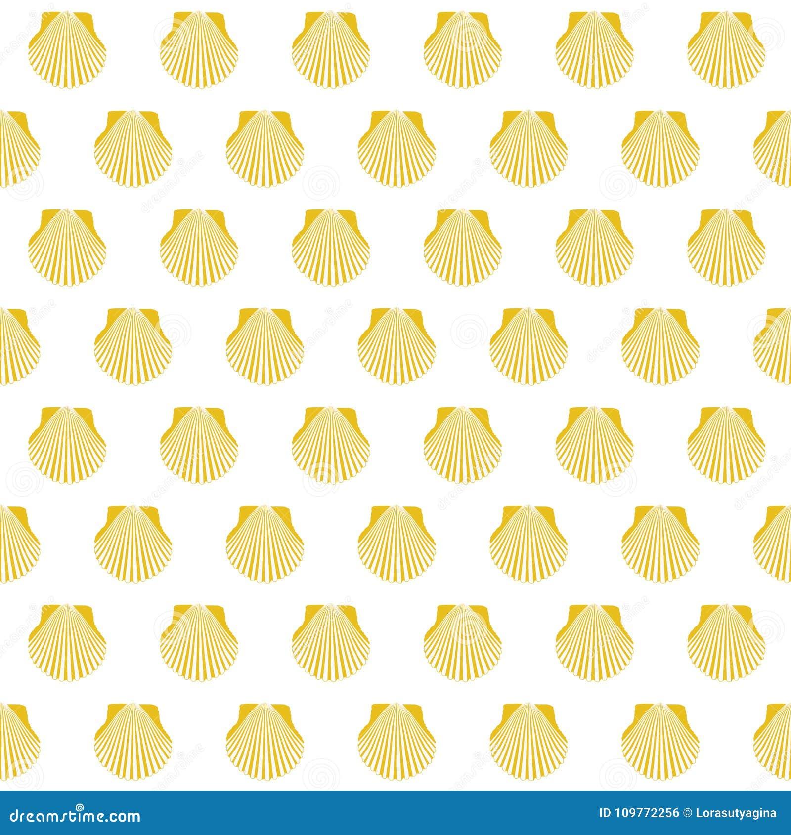 Segno giallo di Camino Santiago delle coperture di pettine senza cuciture