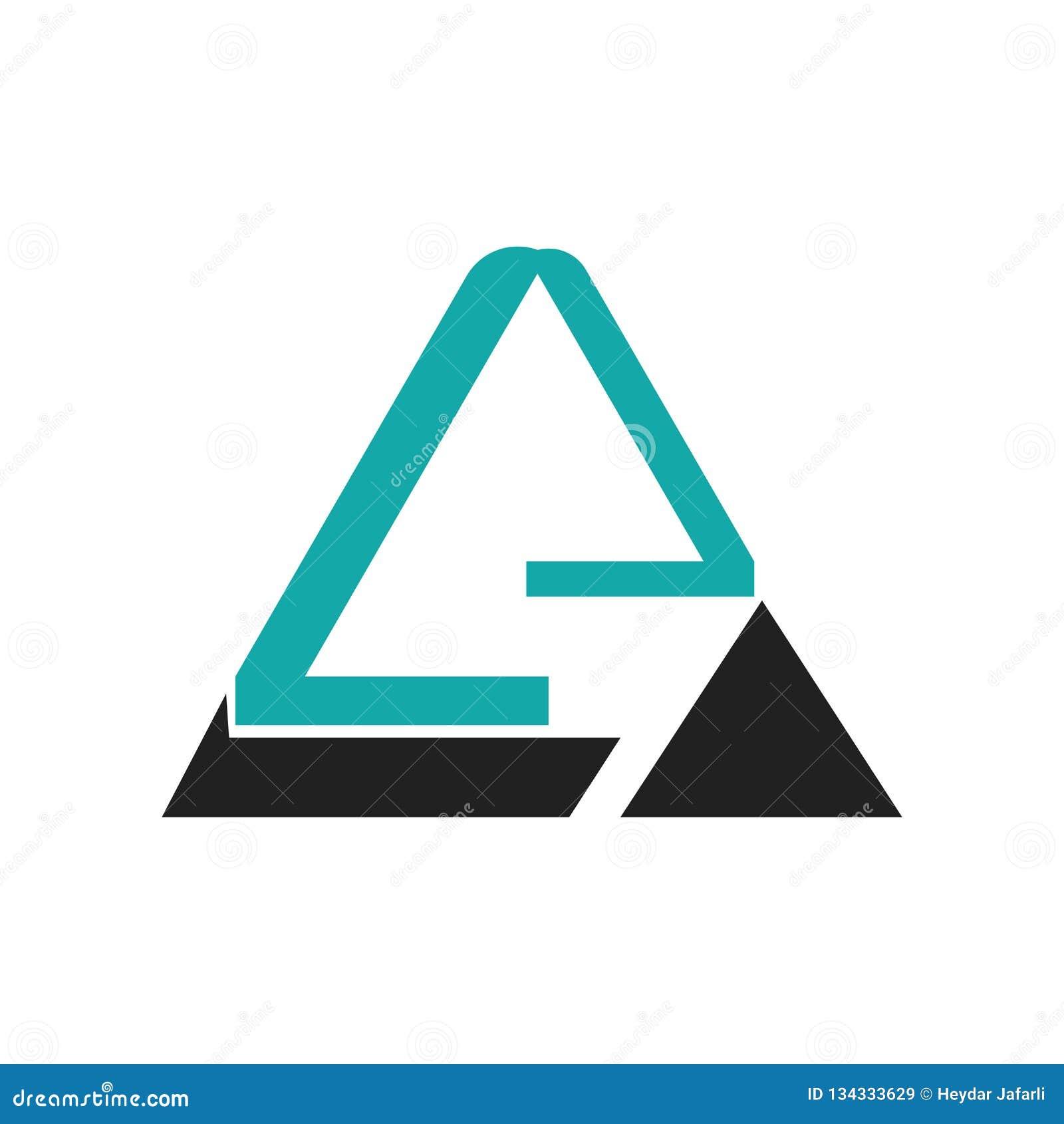Segno grafico e simbolo di vettore dell icona della piramide triangolare isolati su fondo bianco, concetto grafico di logo della