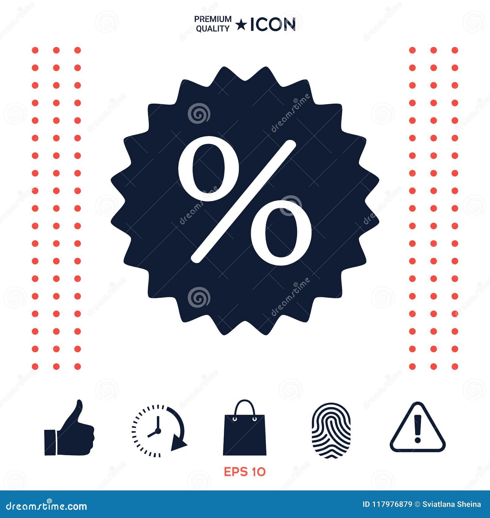 Download Segno, Icona Di Sconto Di Simbolo Delle Percentuali Illustrazione Vettoriale - Illustrazione di offerta, ritaglio: 117976879