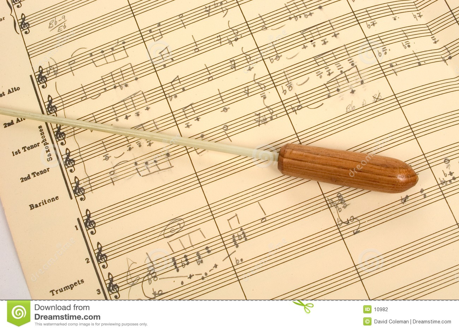 Segno musicale con il bastone del conduttore