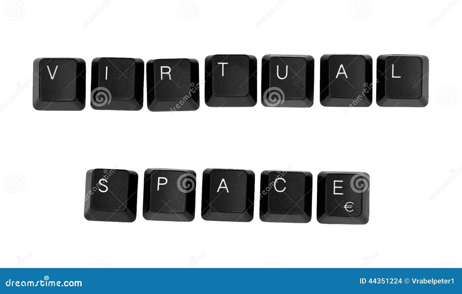Segno VIRTUALE dello SPAZIO scritto su una tastiera