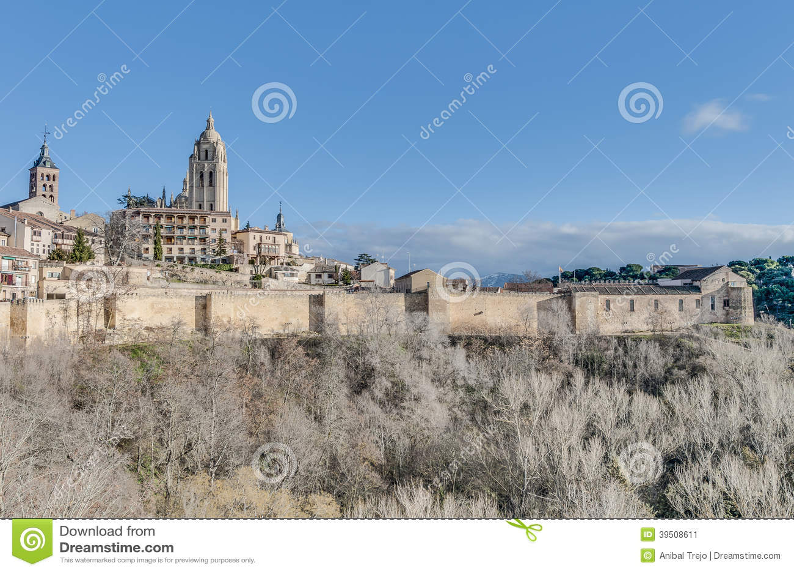 Segovia City walls at Castile and Leon, Spain