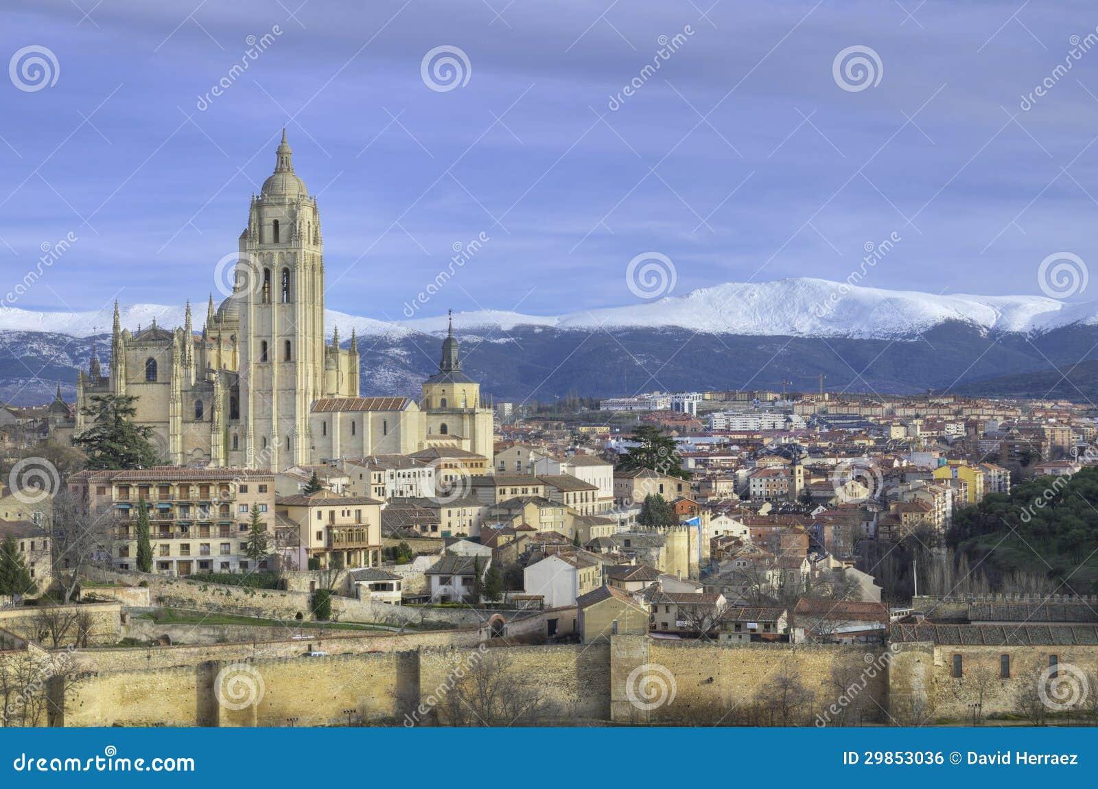 Segovia cityscape. Berömd spansk Landmark