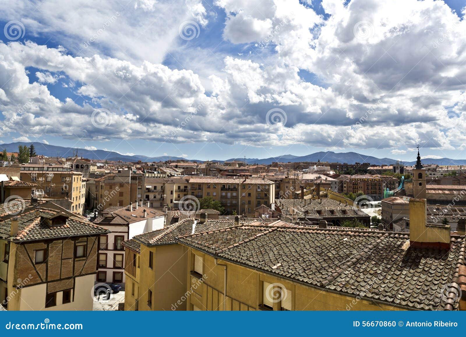 Segovia Old City stock photo Image of city background 56670860