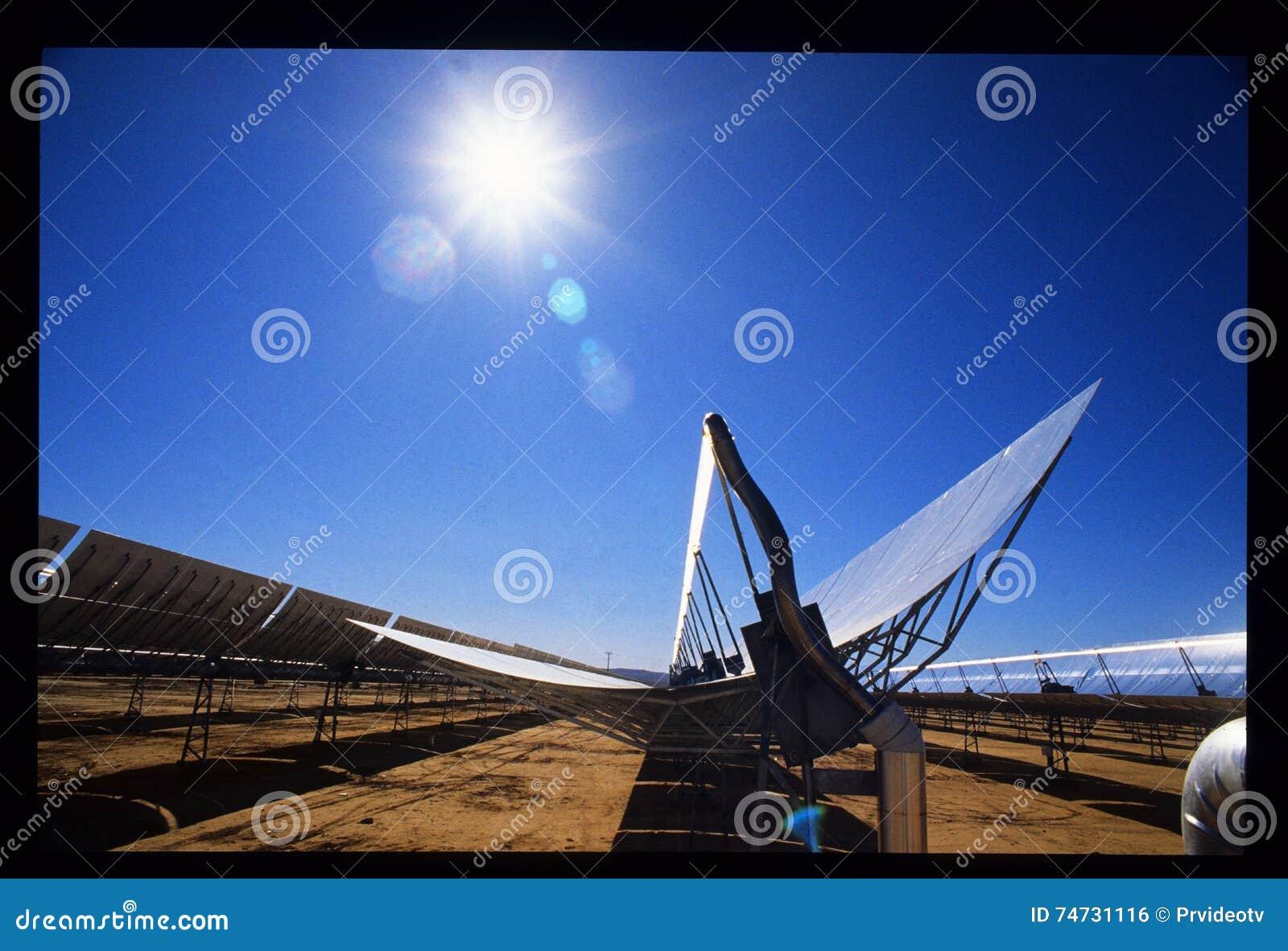 SEGS-II Southern California Edison Solar Power Plant Stock Photo