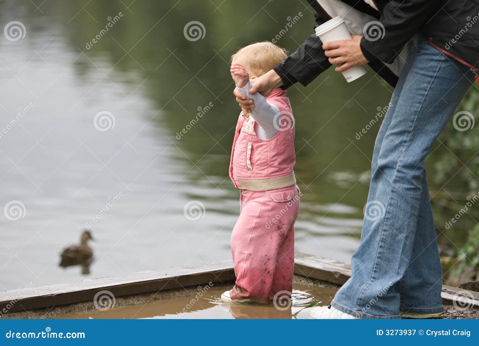 Segurança da água da criança
