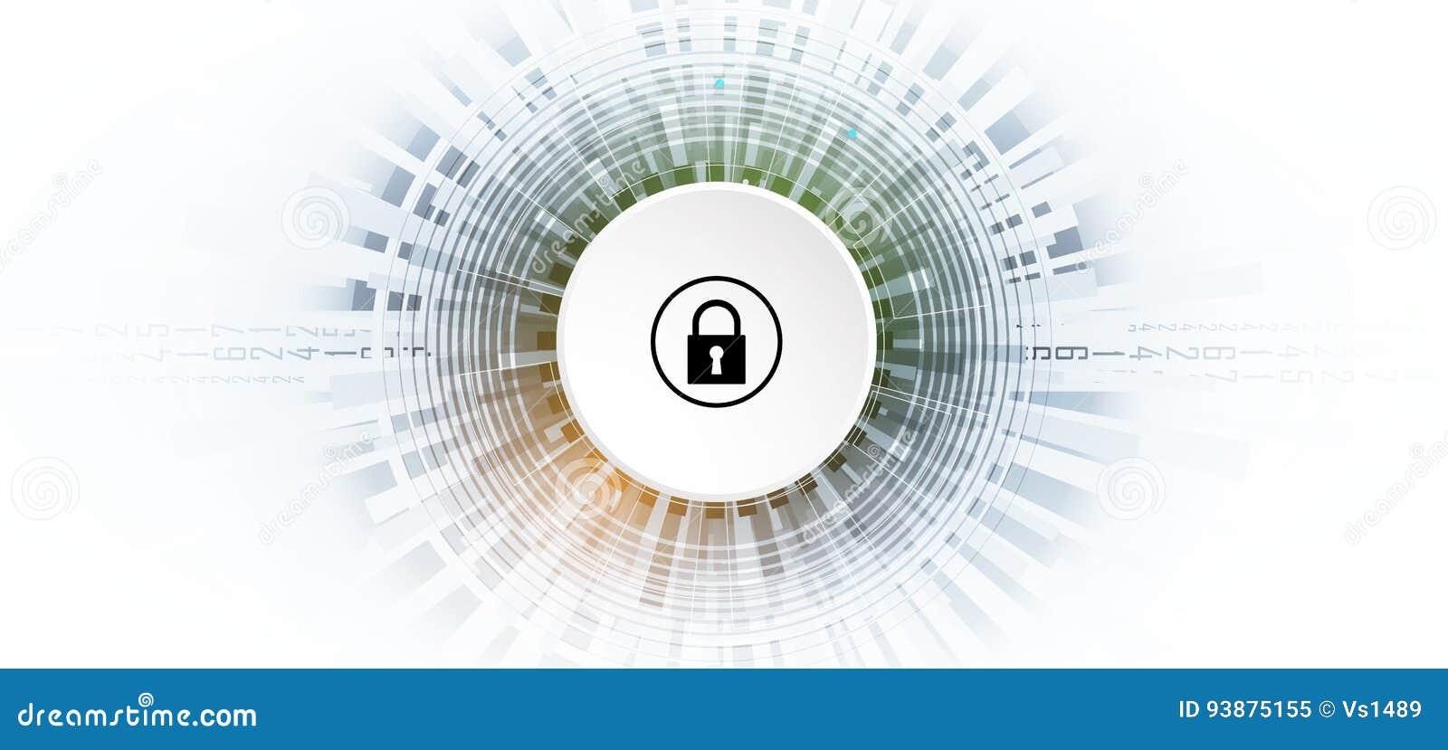 Segurança do Cyber e proteção da informação ou da rede Futuro técnico