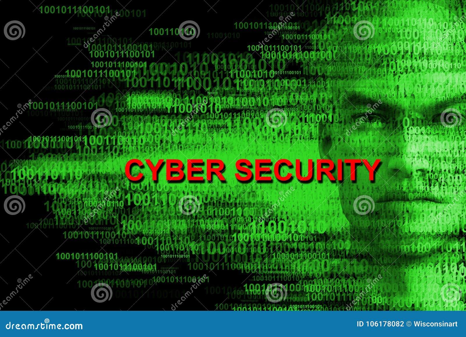 Seguridad cibernética, cortando, pirata informático, ordenadores