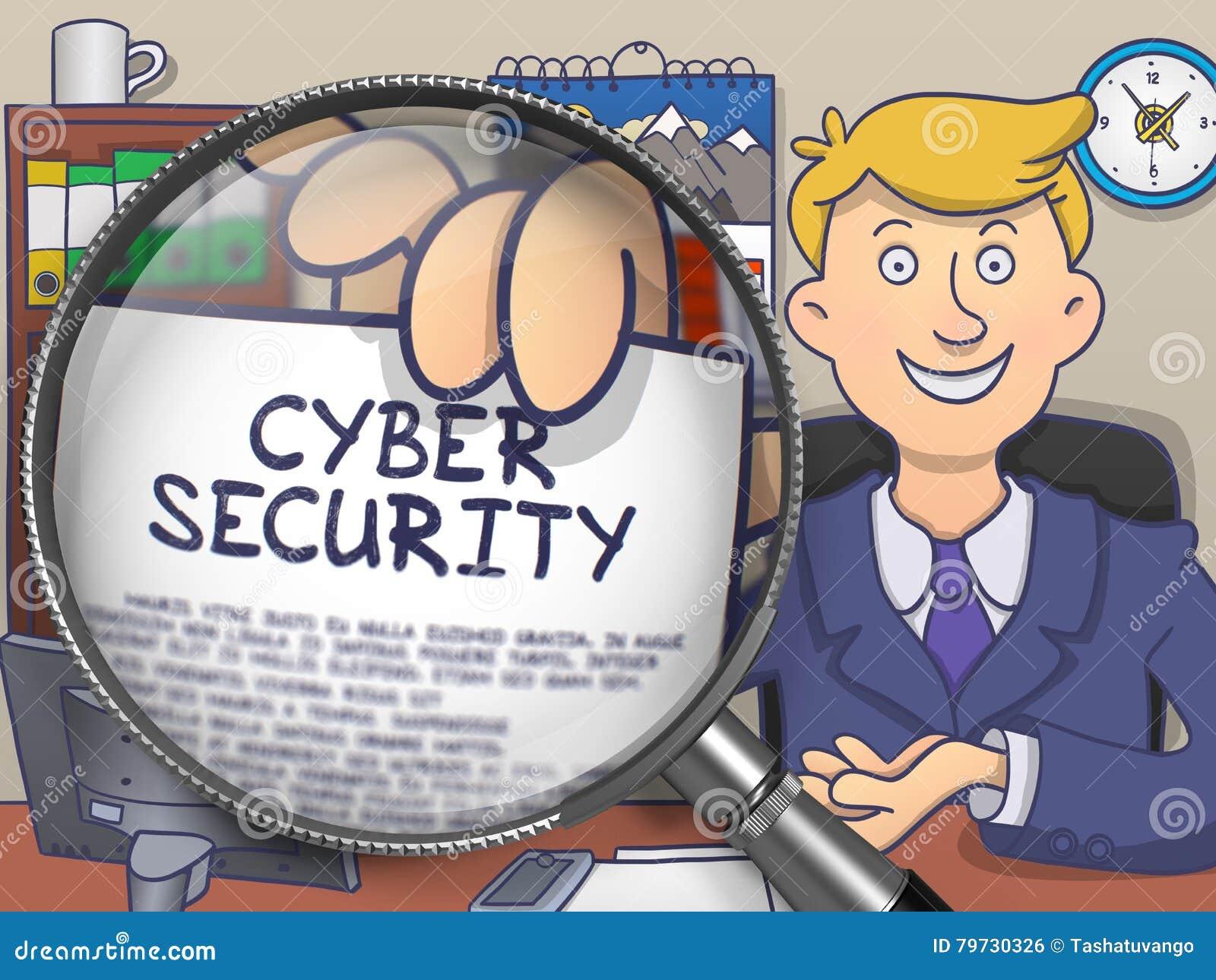 Seguridad cibernética a través de la lente Diseño del garabato