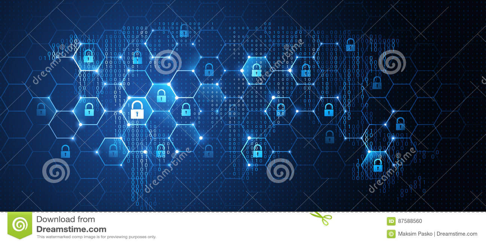 Seguridad de la red global Vector