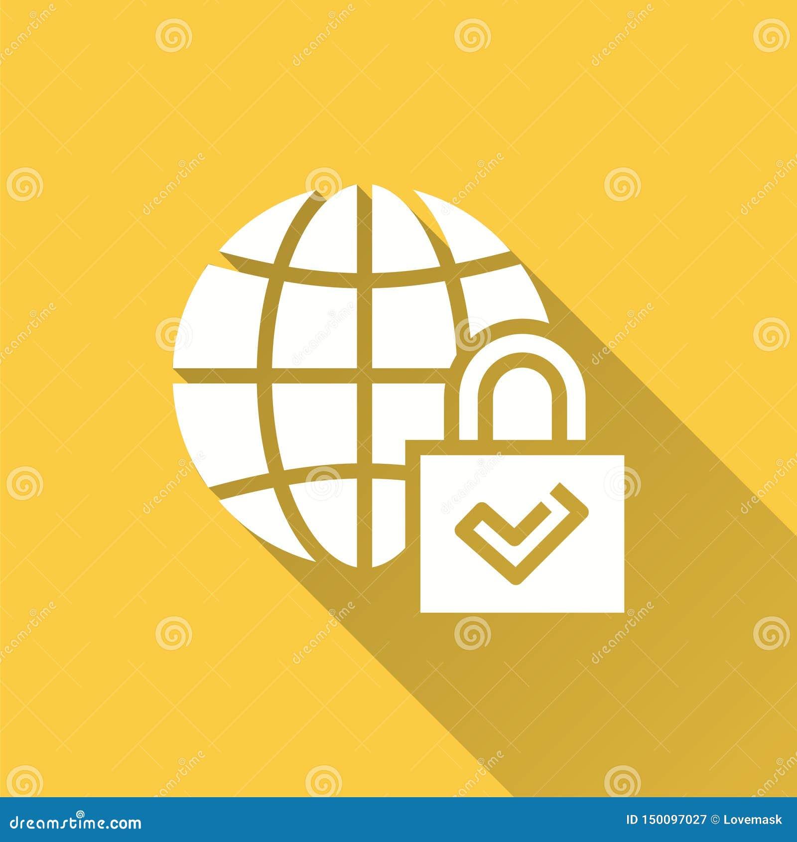 Seguridad global - icono del vector para el gráfico y el diseño web