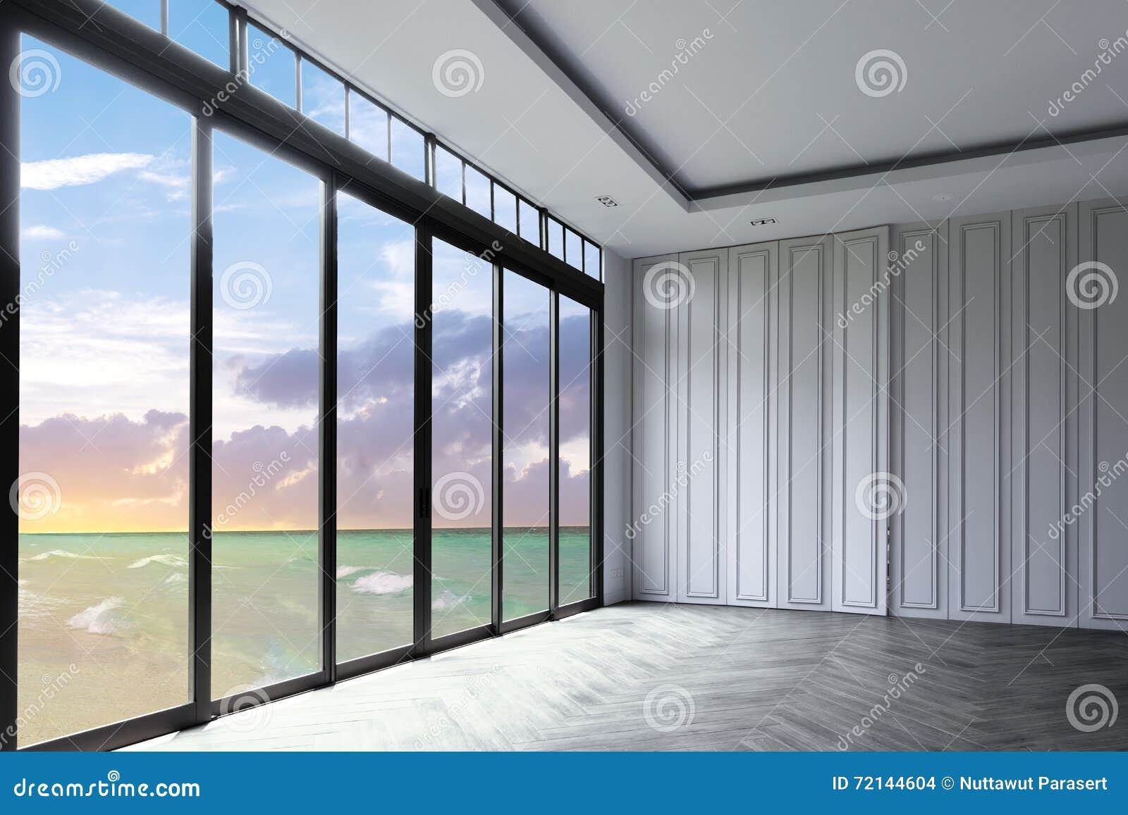 Sehen Sie Meer des schönen tropischen Strandes des Meerblicks und des blauen Himmels und Himmel an,
