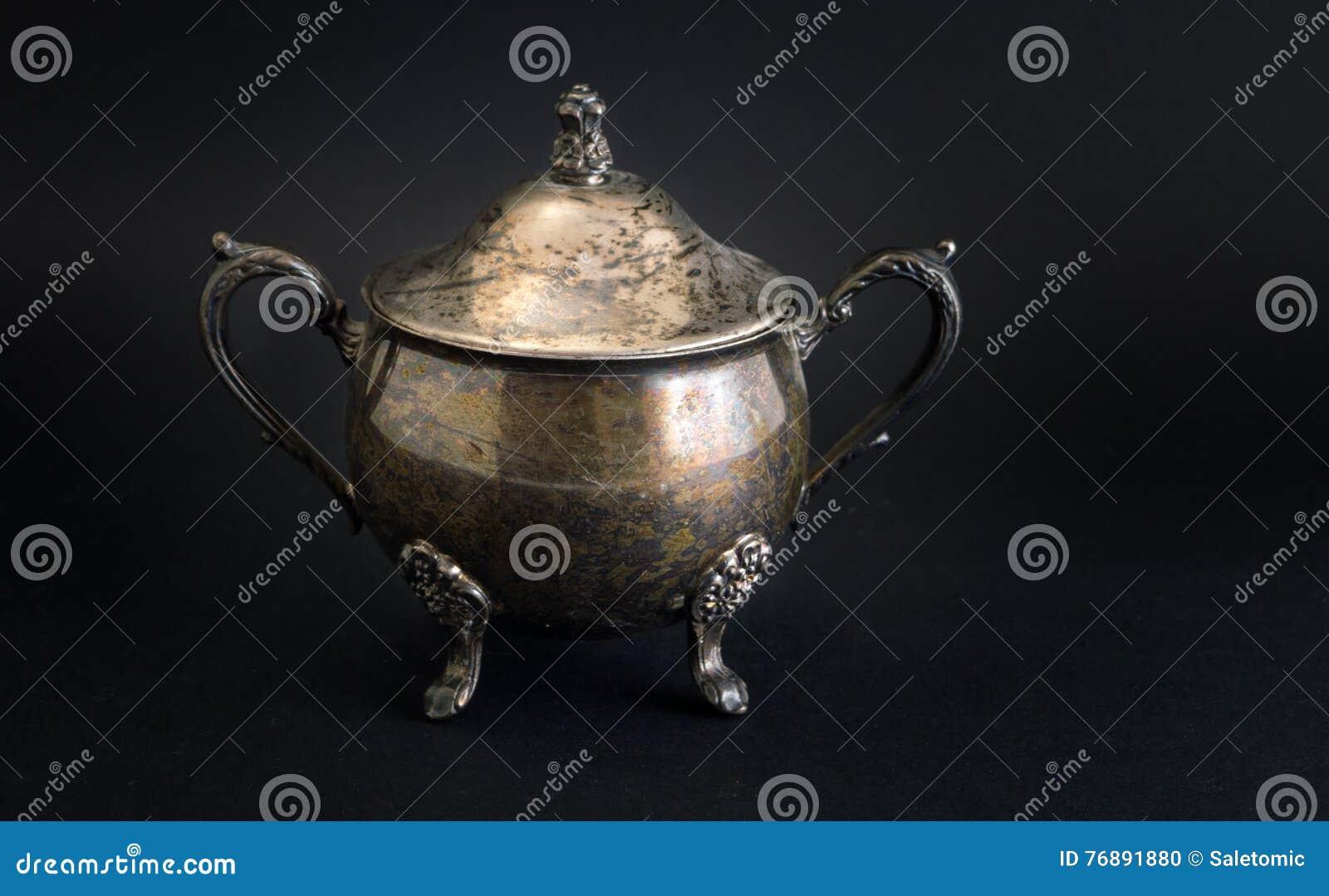 Sehr Altes Silbernes Kuchenzubehor Stockfoto Bild Von Krug Ausfuhrlich 76891880