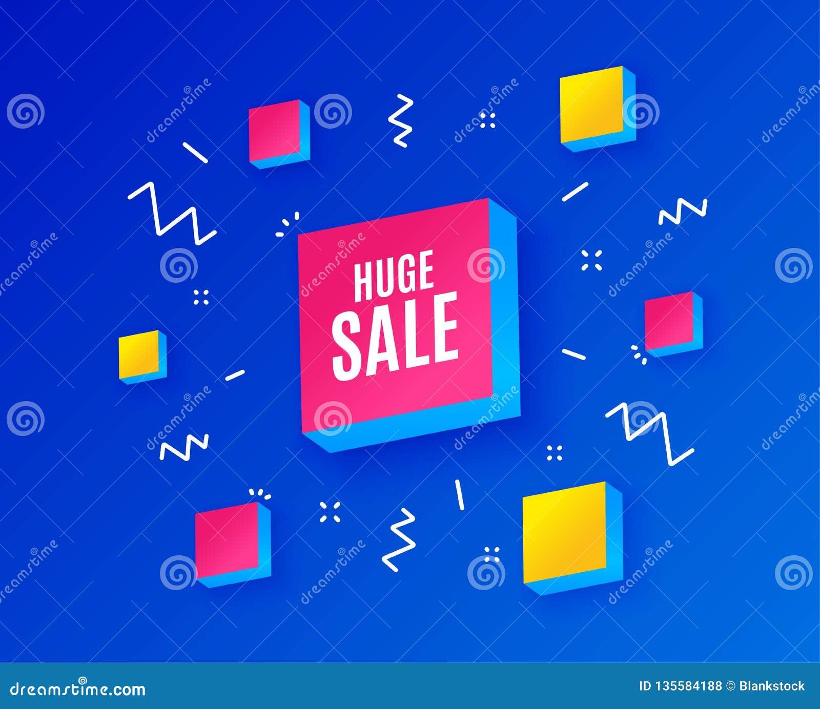Sehr großer Verkauf Sonderangebotpreiszeichen Vektor