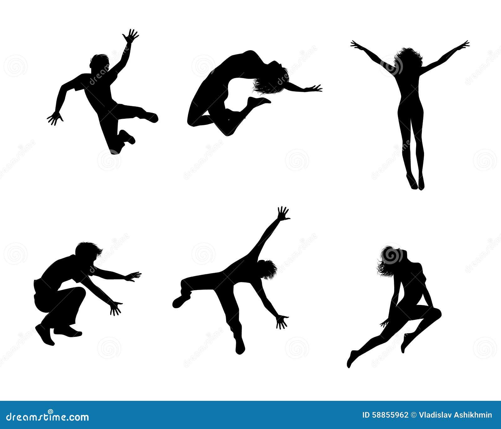 Sei adolescenti di salto