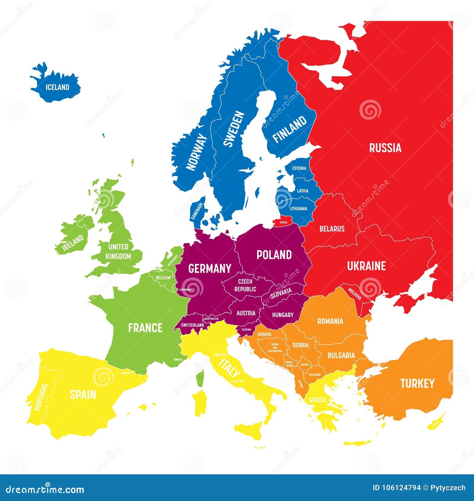 Cartina Geografica Europa Meridionale.Sei Regioni Geografiche Di Europa Del Sud Illustrazione Vettoriale Illustrazione Di Regionale North 106124794