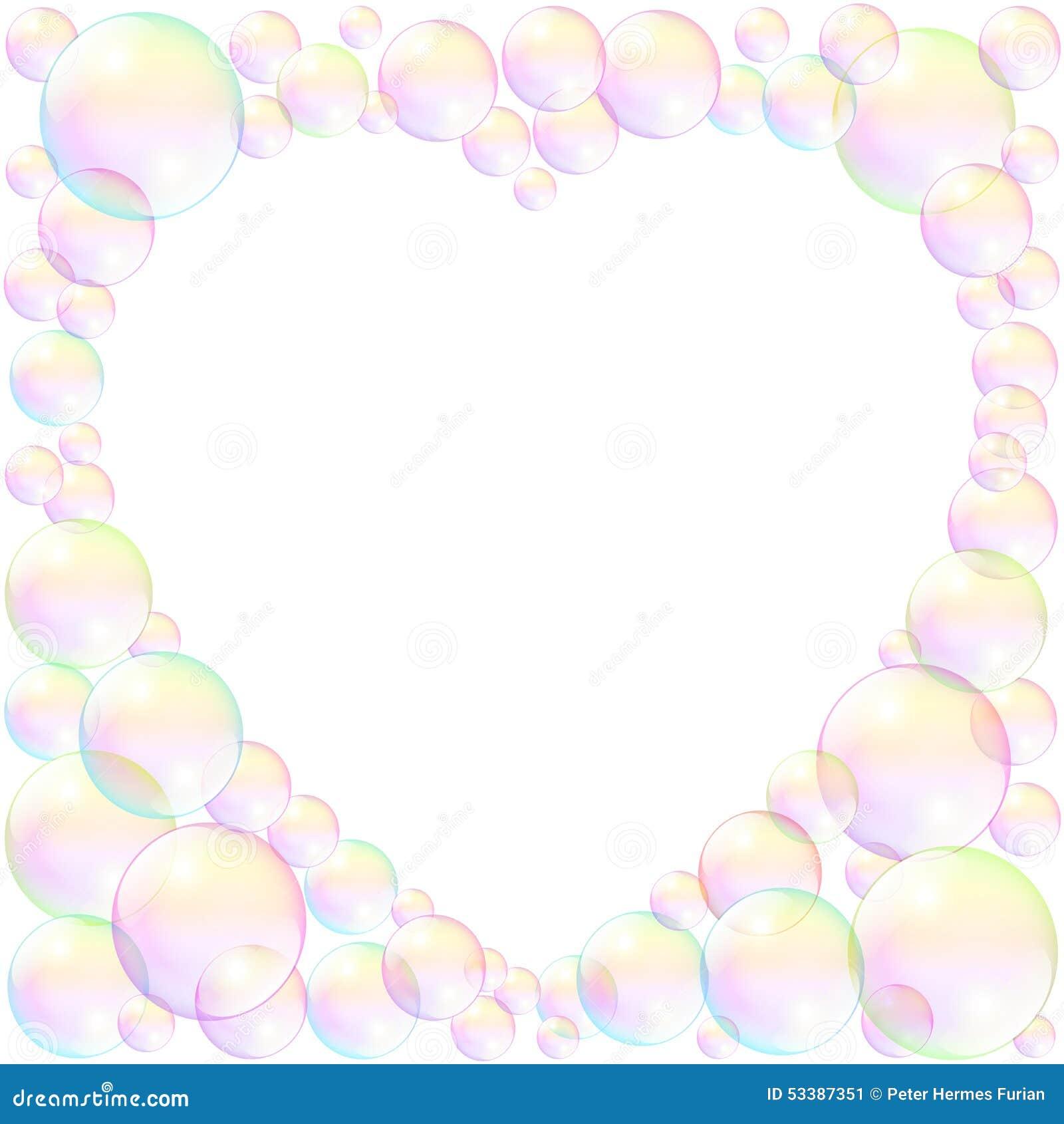 Seifenblase-Herz-Rahmen-Liebe Vektor Abbildung - Illustration von ...