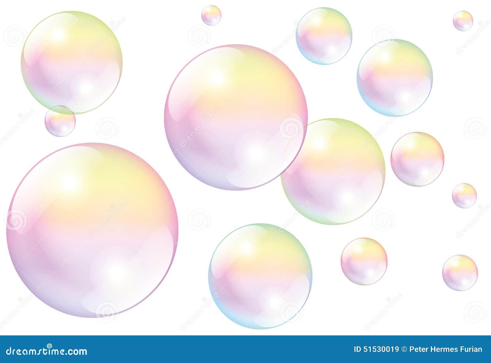 Seifenblasen wei vektor abbildung bild 51530019 for Seifenblasen auf englisch