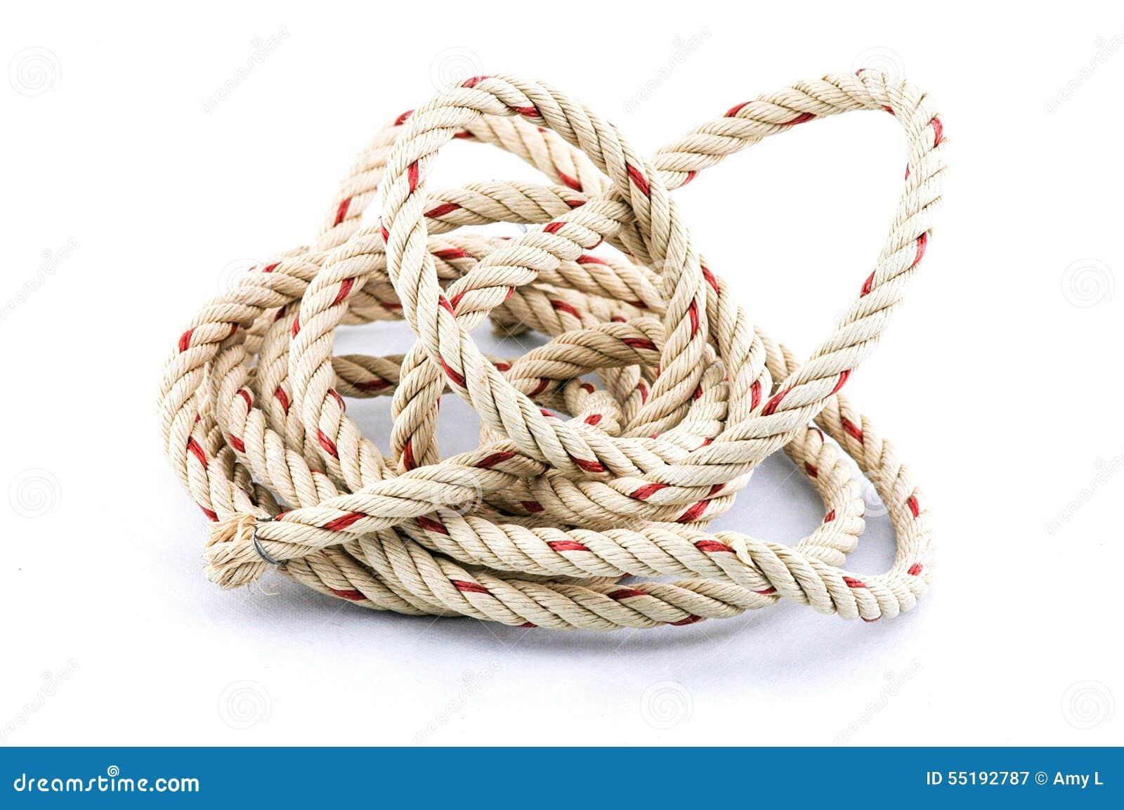 Seil beschäftigt im weißen Hintergrund