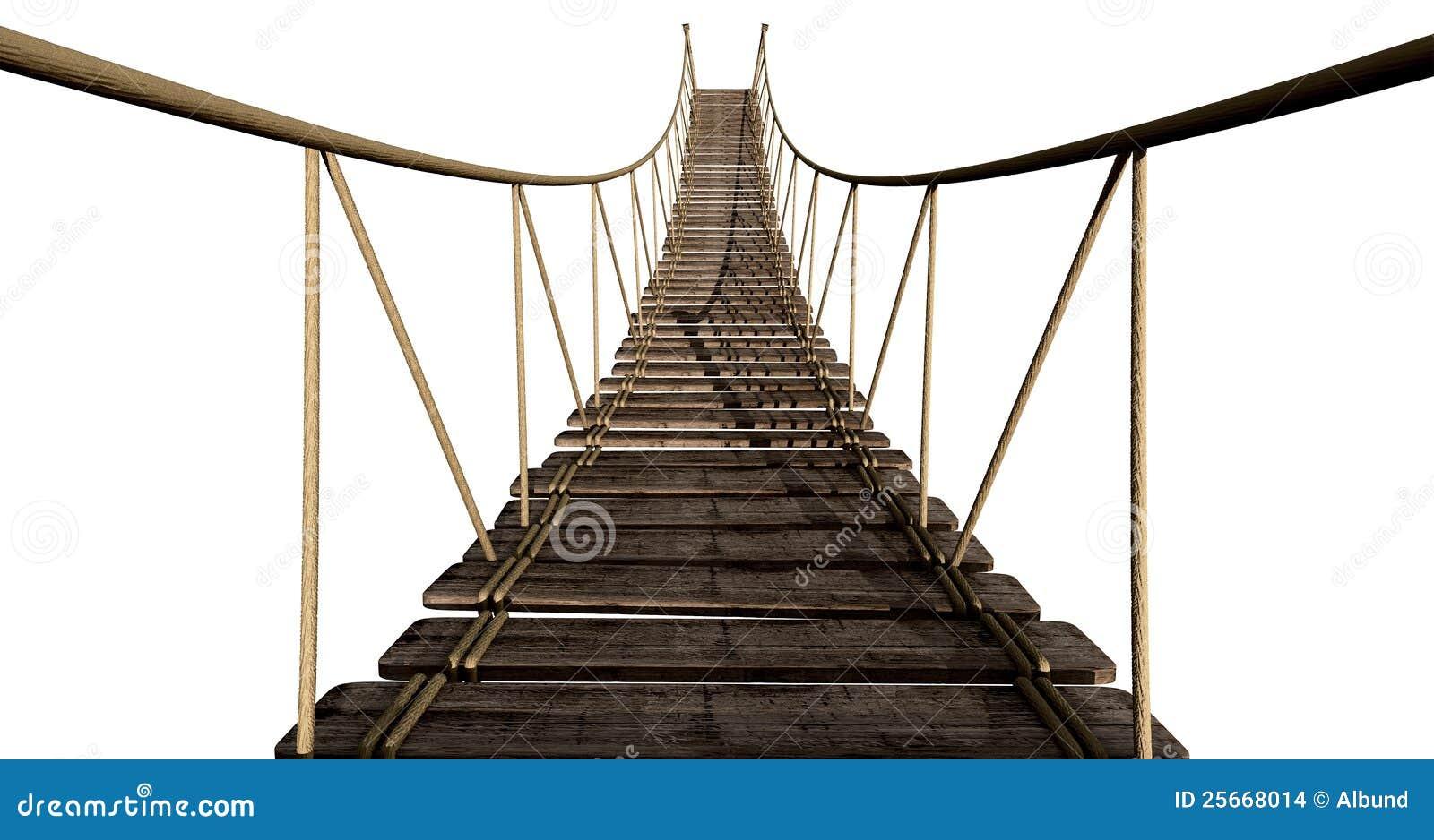 Seil-Brücken-Abschluss Oben Stock Abbildung - Illustration von link ...
