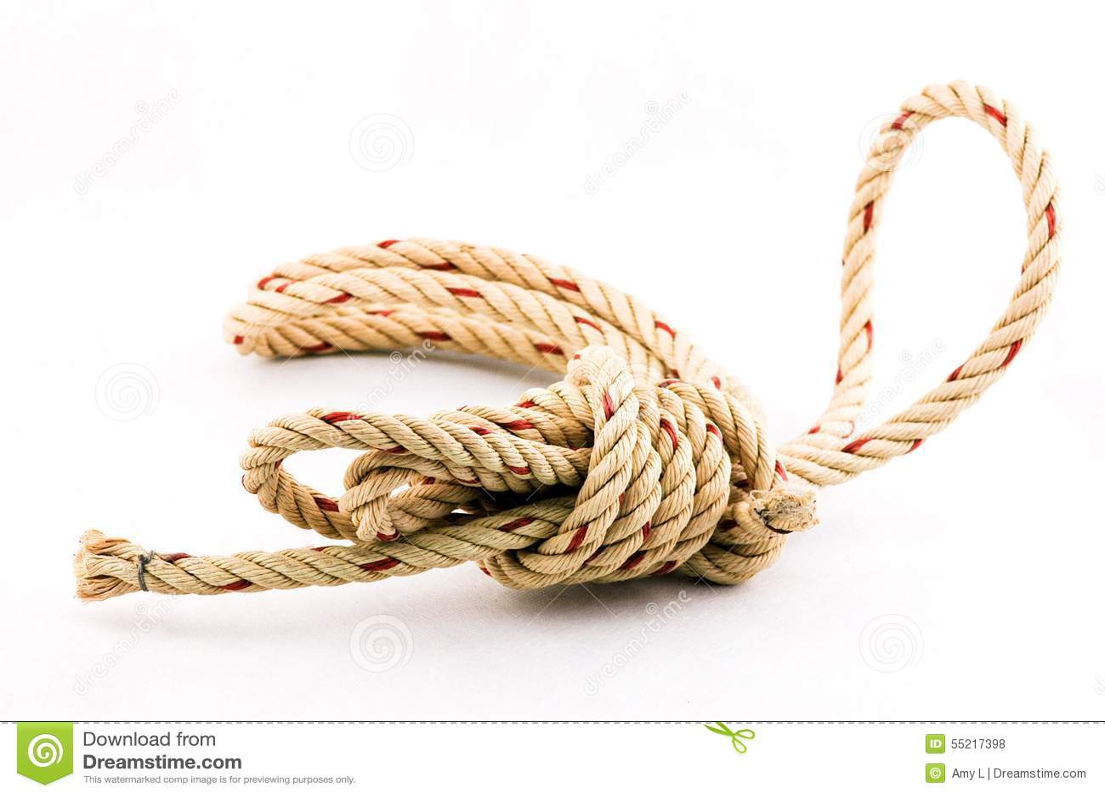 Seilknoten im weißen Hintergrund