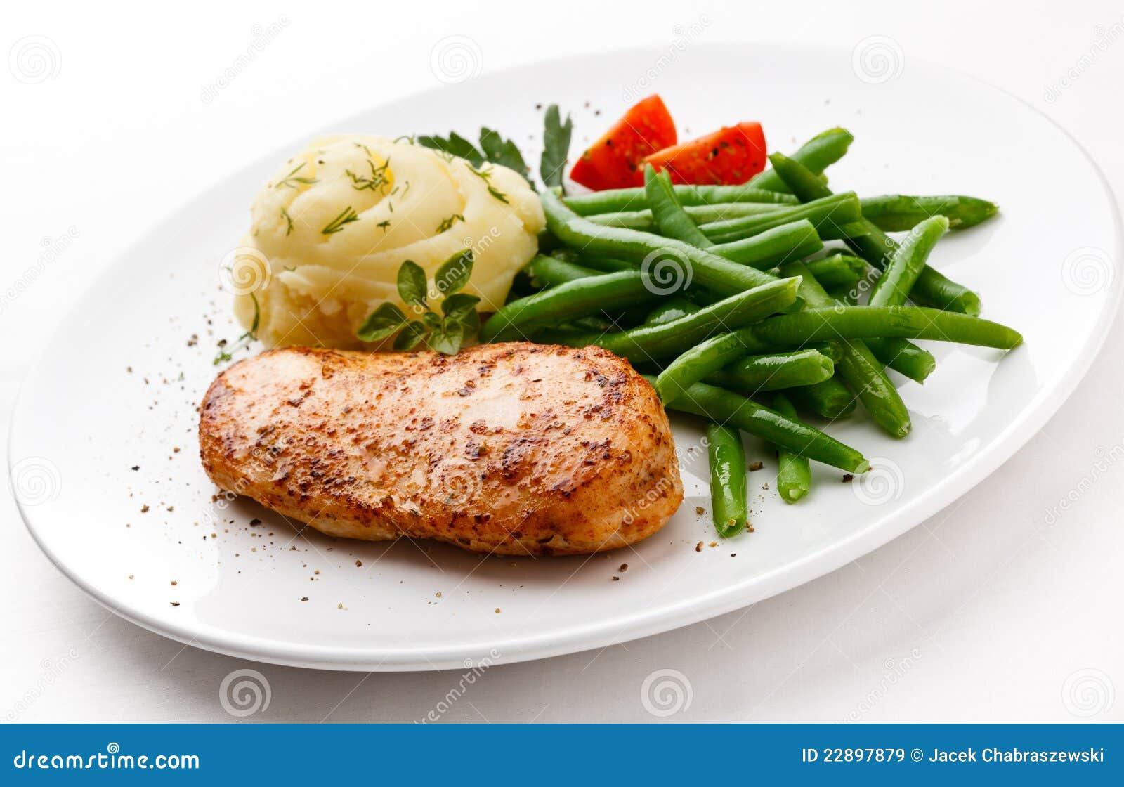 Sein de poulet rôti