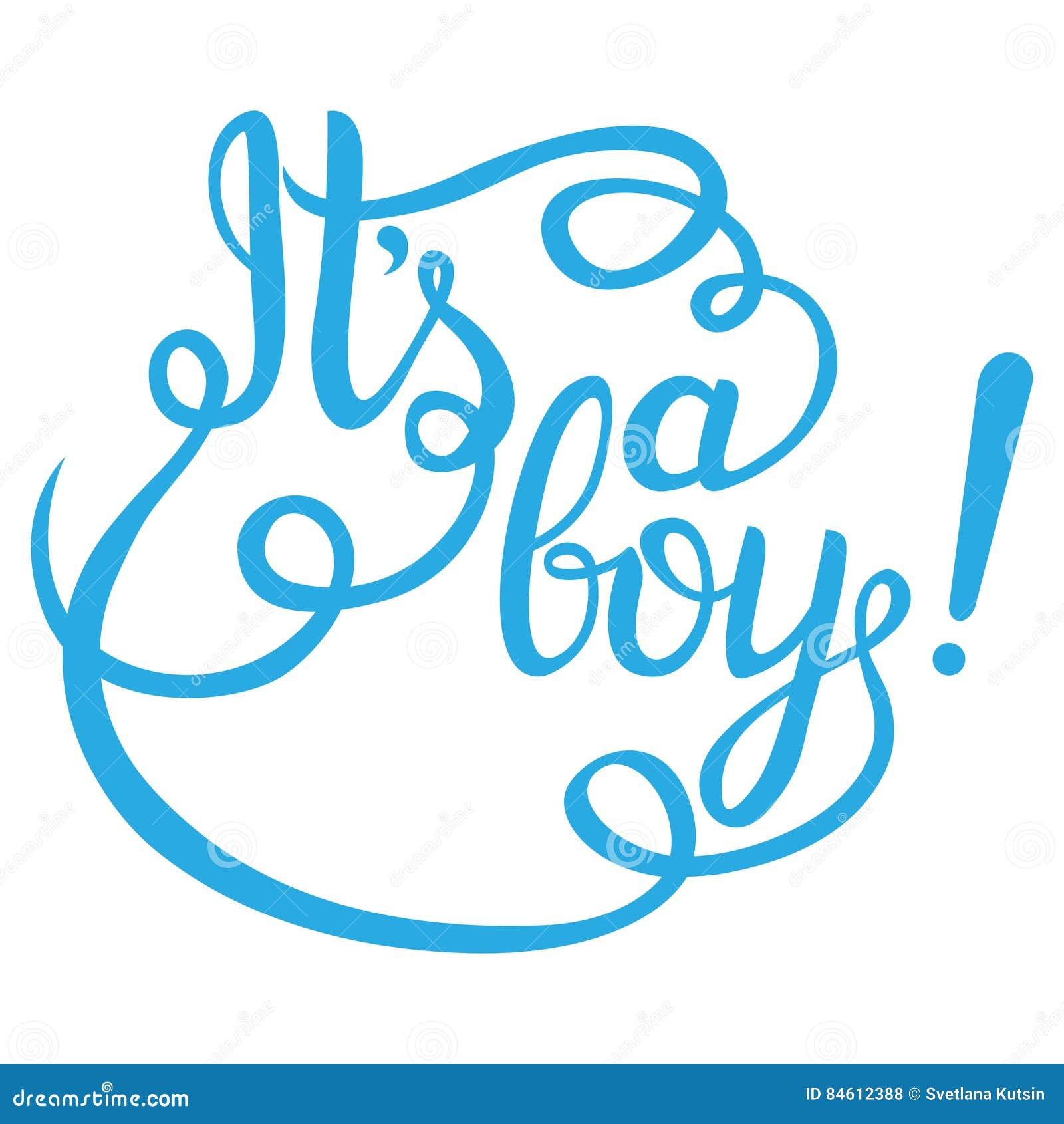 Sein Eine Jungenbeschriftung Babyparty-Einladung Stock Abbildung ...