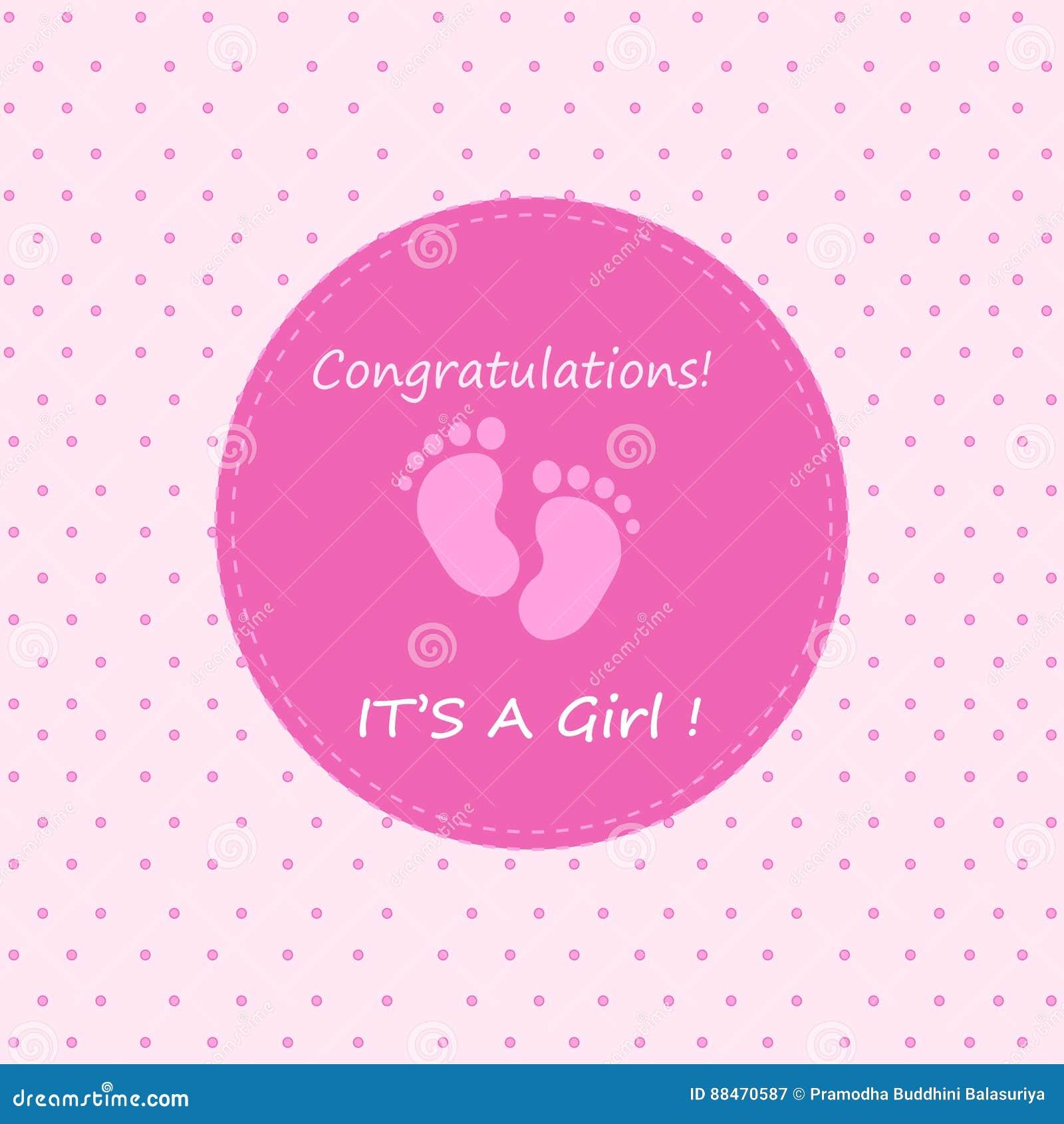 Zum baby madchen gratulieren
