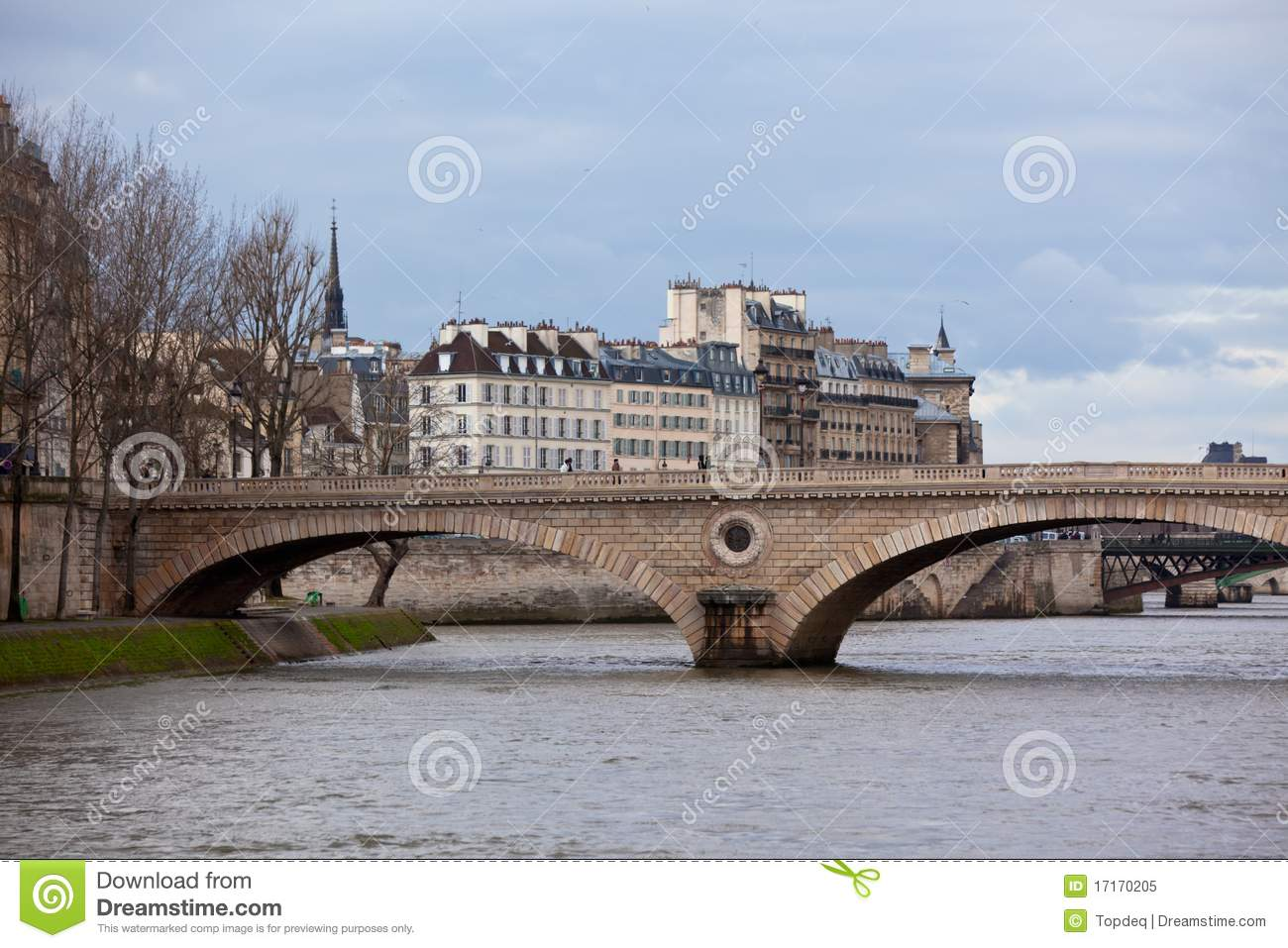 Seine River With Bridges Royalty Free Stock Photo Image