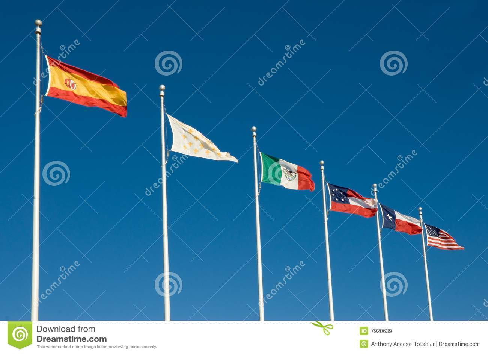 Seis bandeiras de Texas