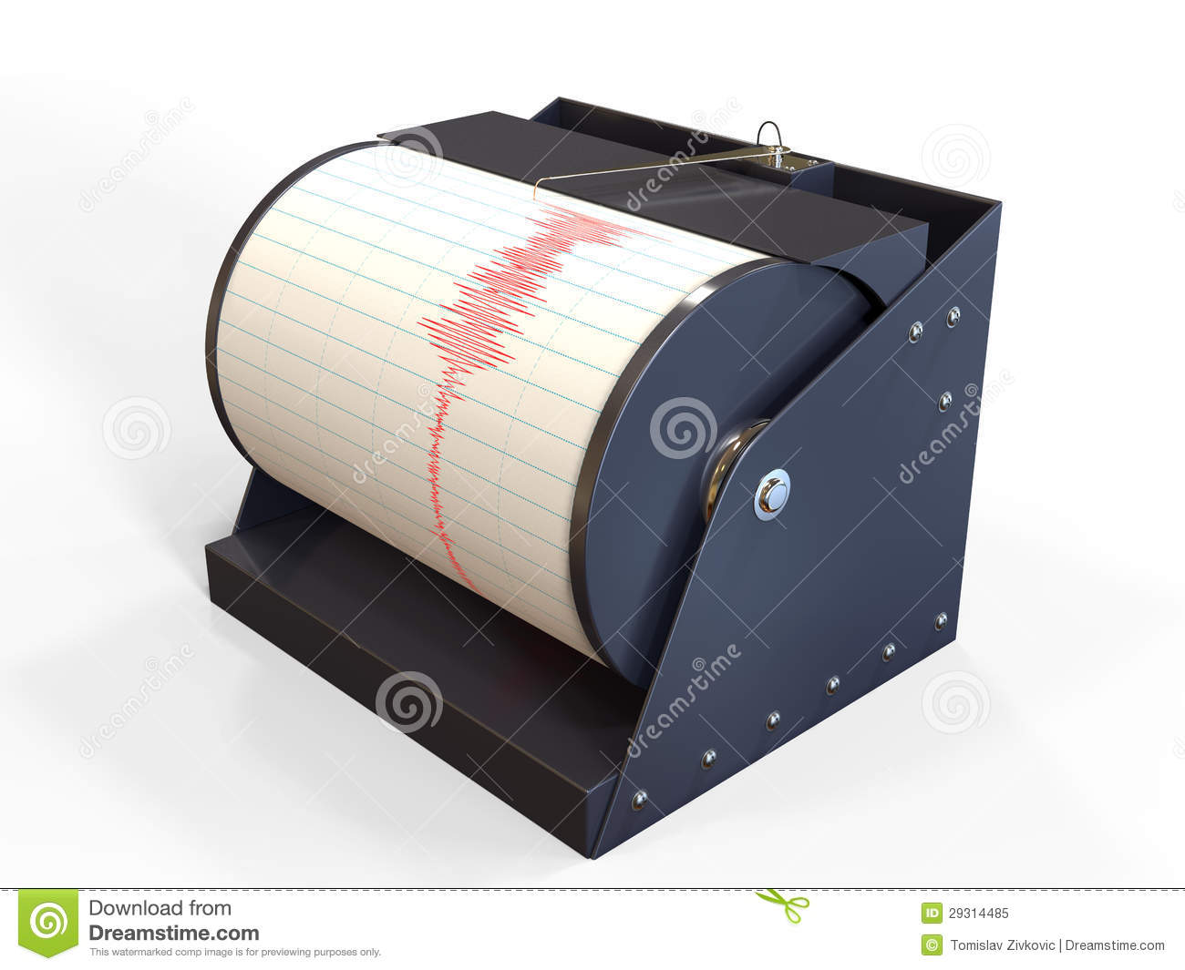 Seismograph Instrument Recording Stock Illustration ...