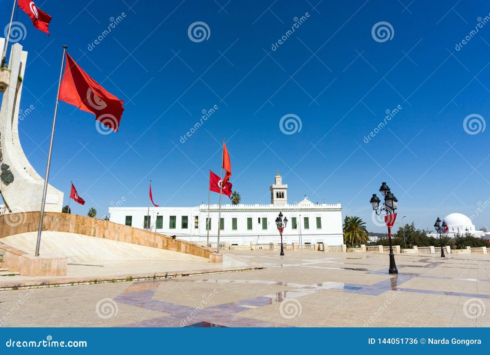 Seite von Kasbah-Quadrat in Tunis, Tunesien