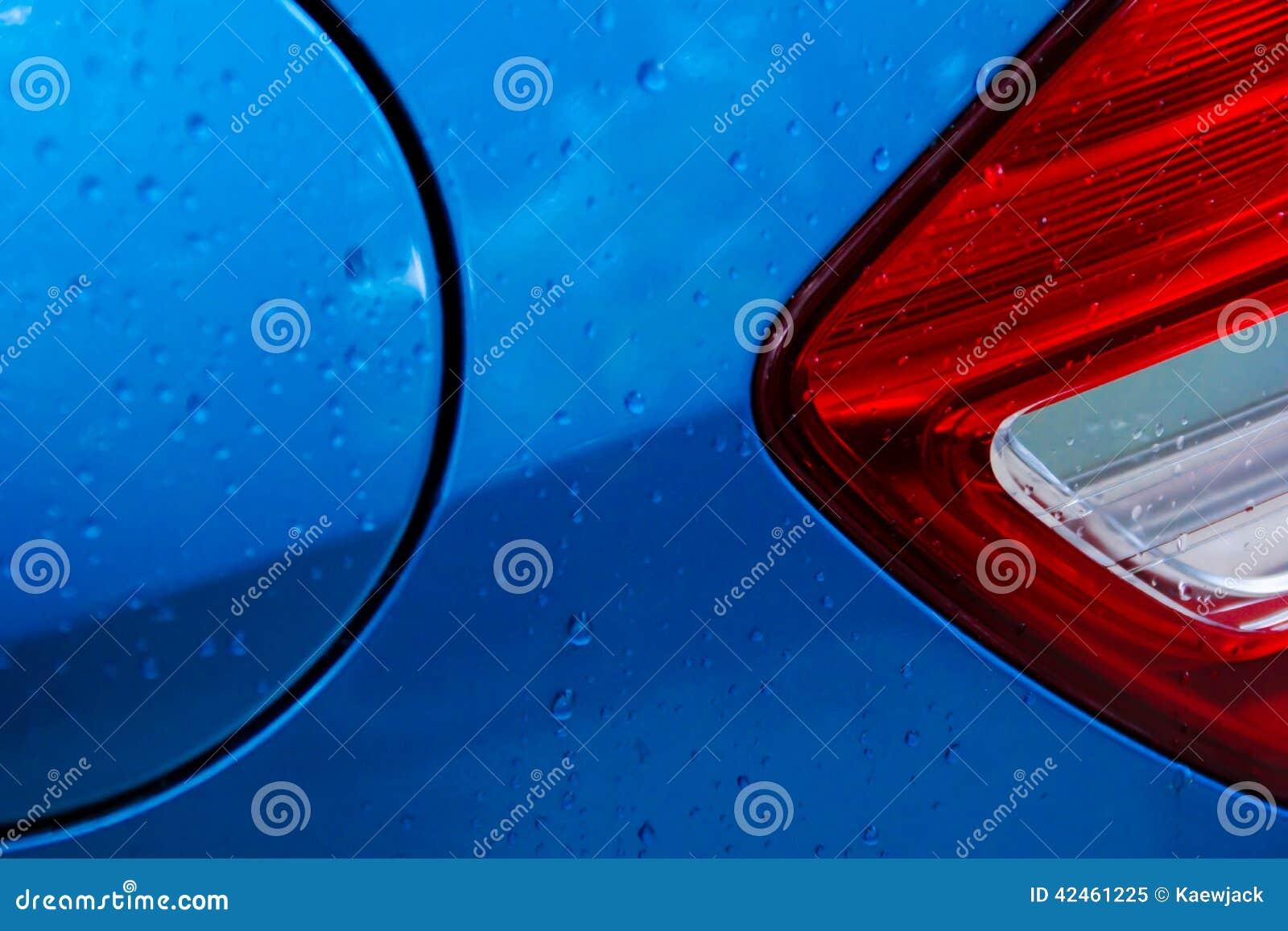 Seitenansicht der hinteren Automobil-Lampe