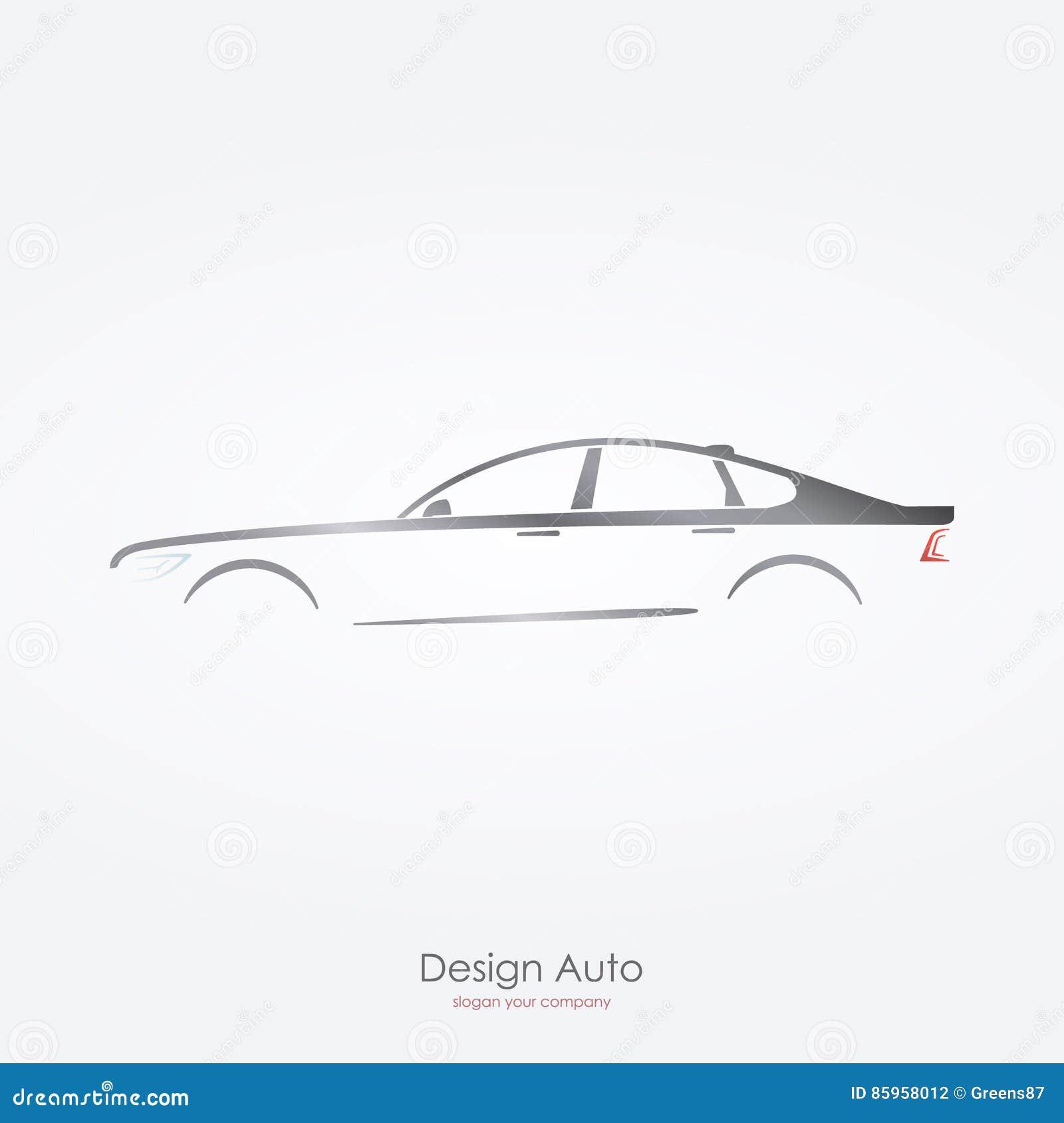 Seitenansicht des grauen Autoschattenbildes von Luxuslimousinen