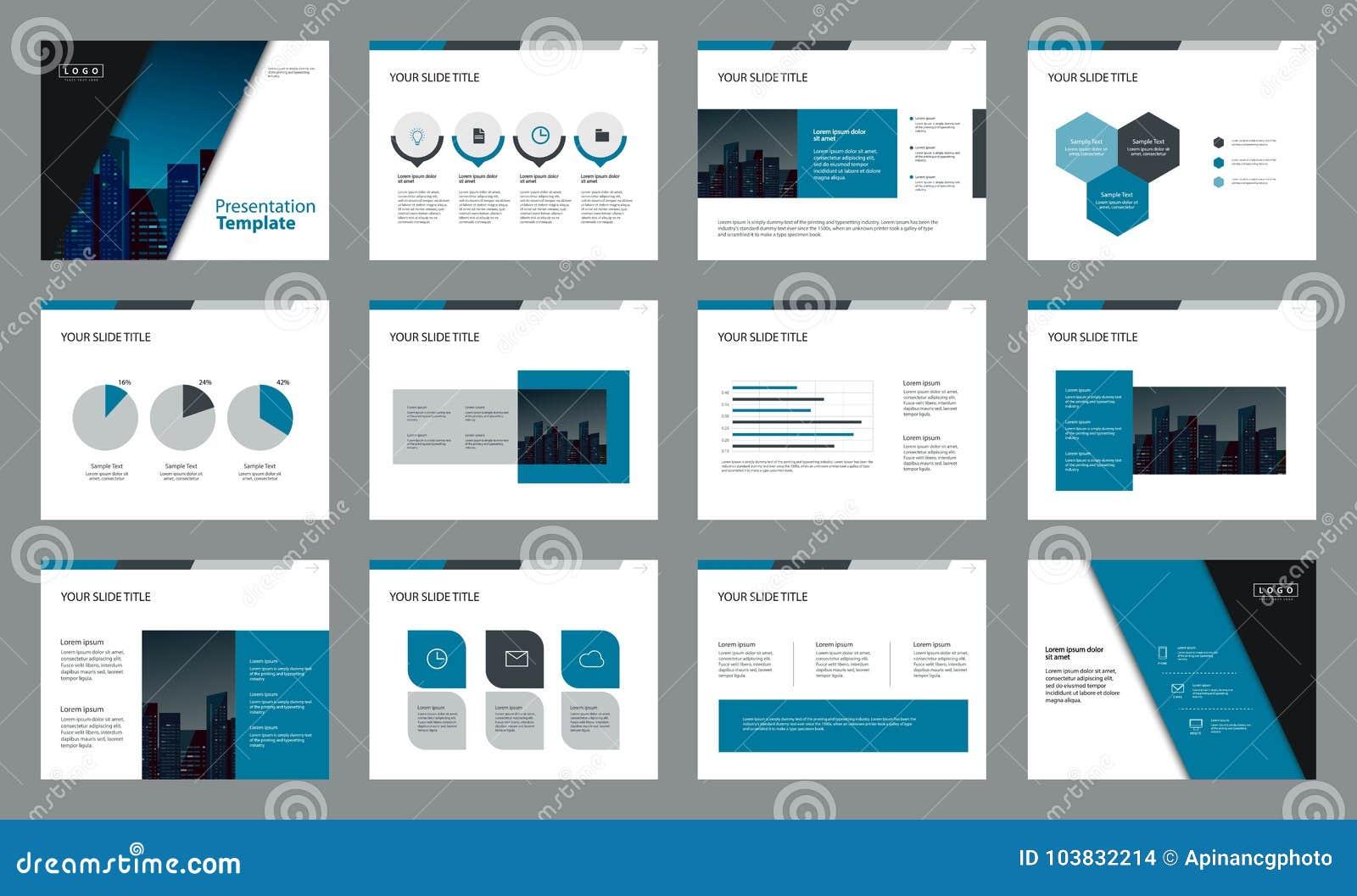 Seitenaufstellungsdesign mit grafischer Elementschablone der Informationen für Darstellung
