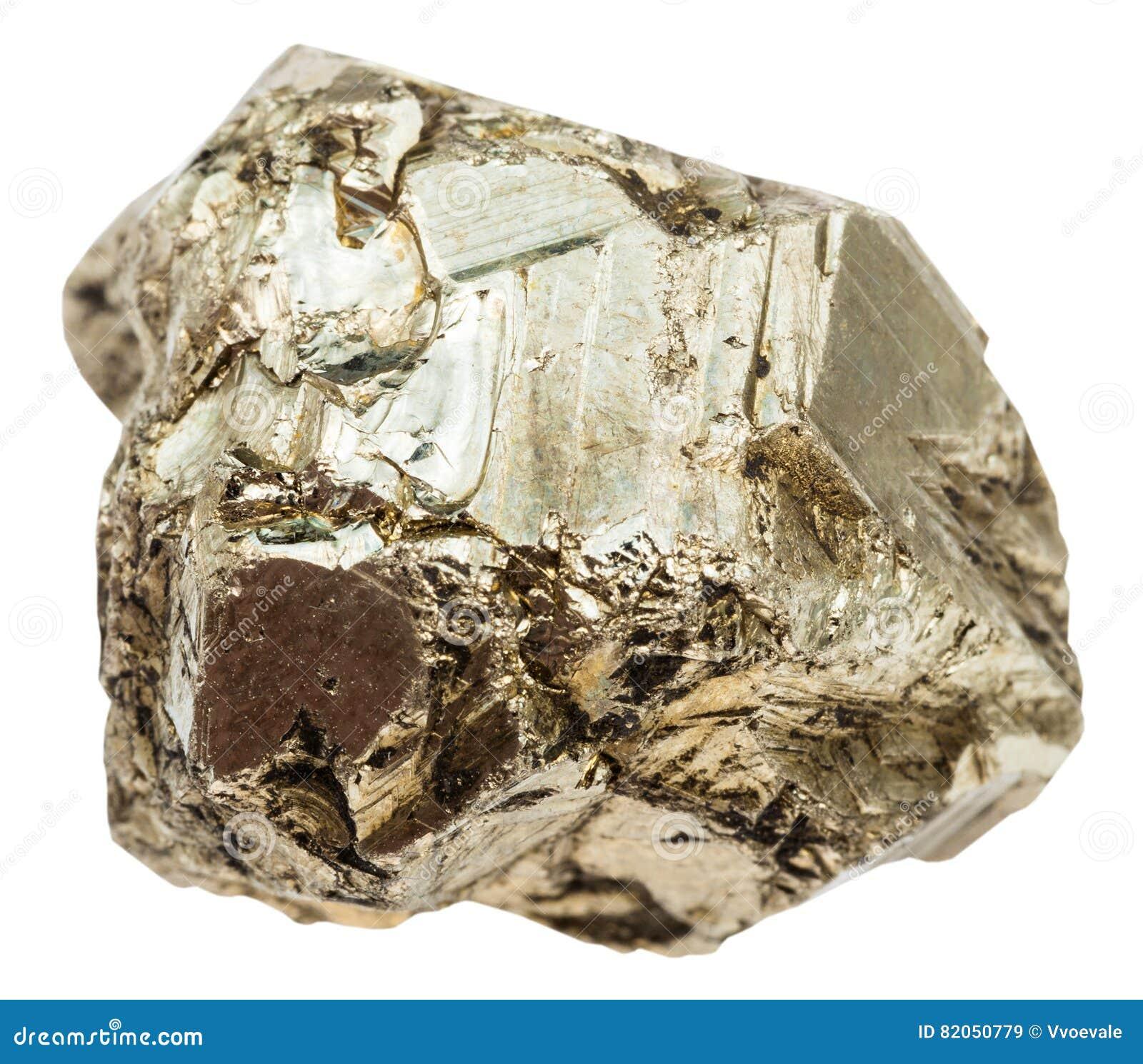 Seixo da pedra da pirite isolado