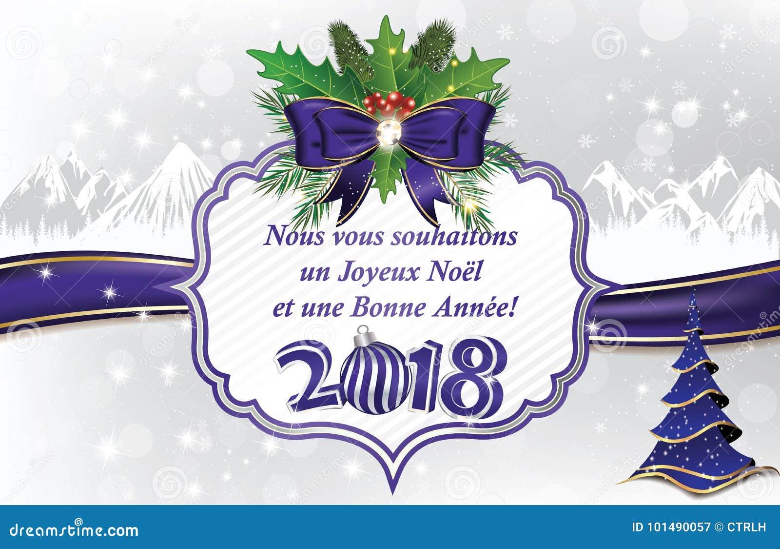 Seizoen S Groeten 2018 In Het Frans Stock Illustratie