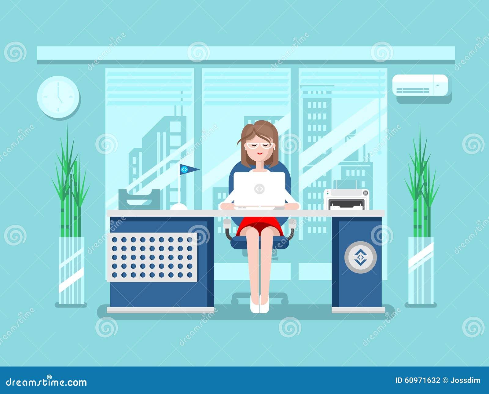 Sekretär im Büro