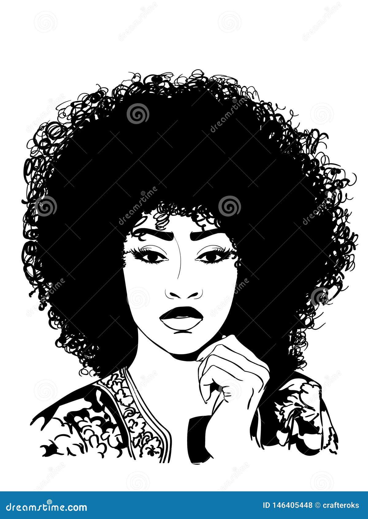 Seksowna afro wektoru eps ilustracja crafteroks