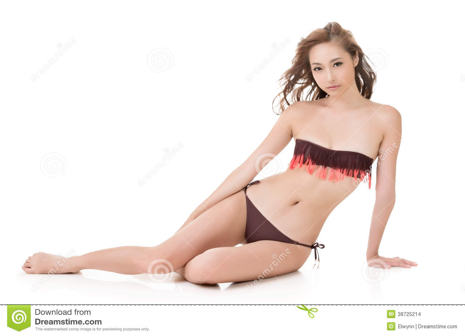 Seksowna bikini kobieta azjata