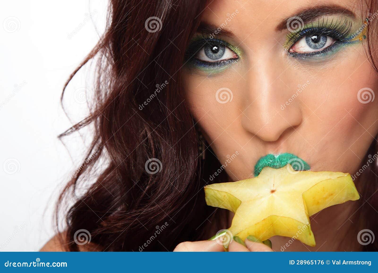 Seksowna dama Je Gwiazdową owoc