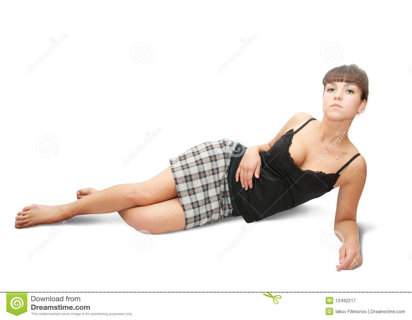 Seksowna dziewczyny sprawdzać spódnica
