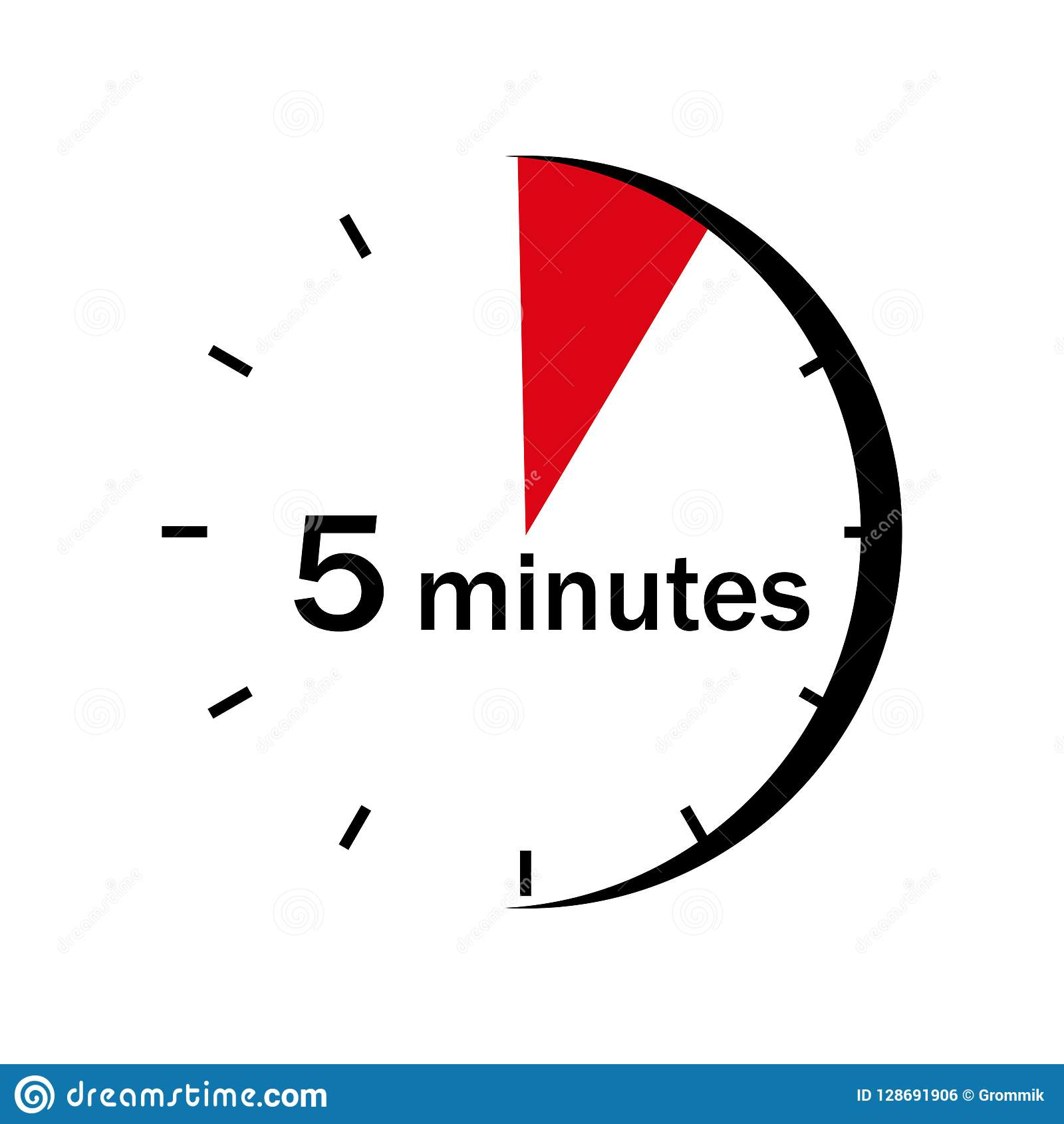 Sektor 5 minut zaznacza na zegarowej twarzy