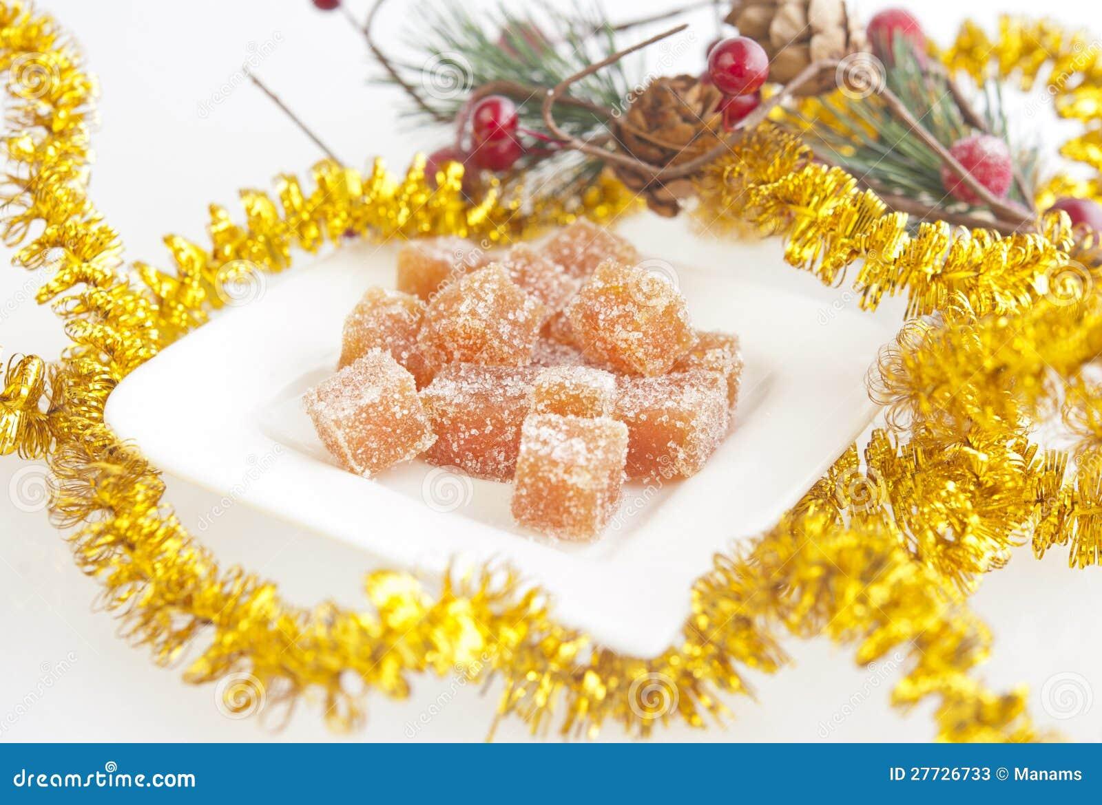 Selbst gemachte Fruchtsüßigkeit für Weihnachten