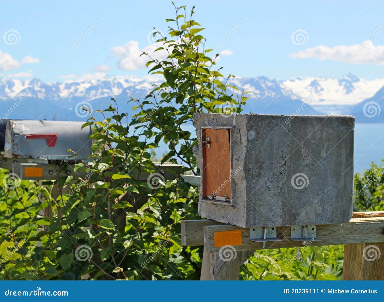 Selbst gemachte konkrete Mailbox