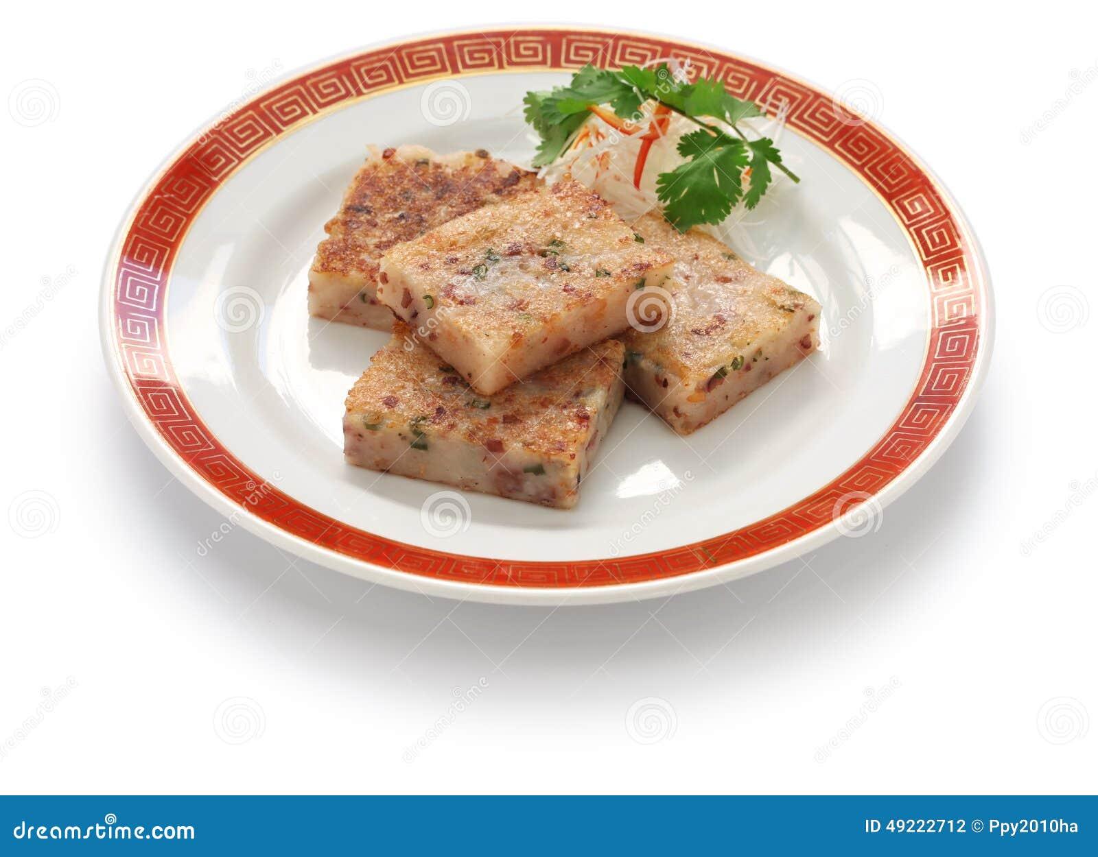 Selbst Gemachter Rübenkuchen, Chinesischer Dim Sum-Teller Stockfoto ...